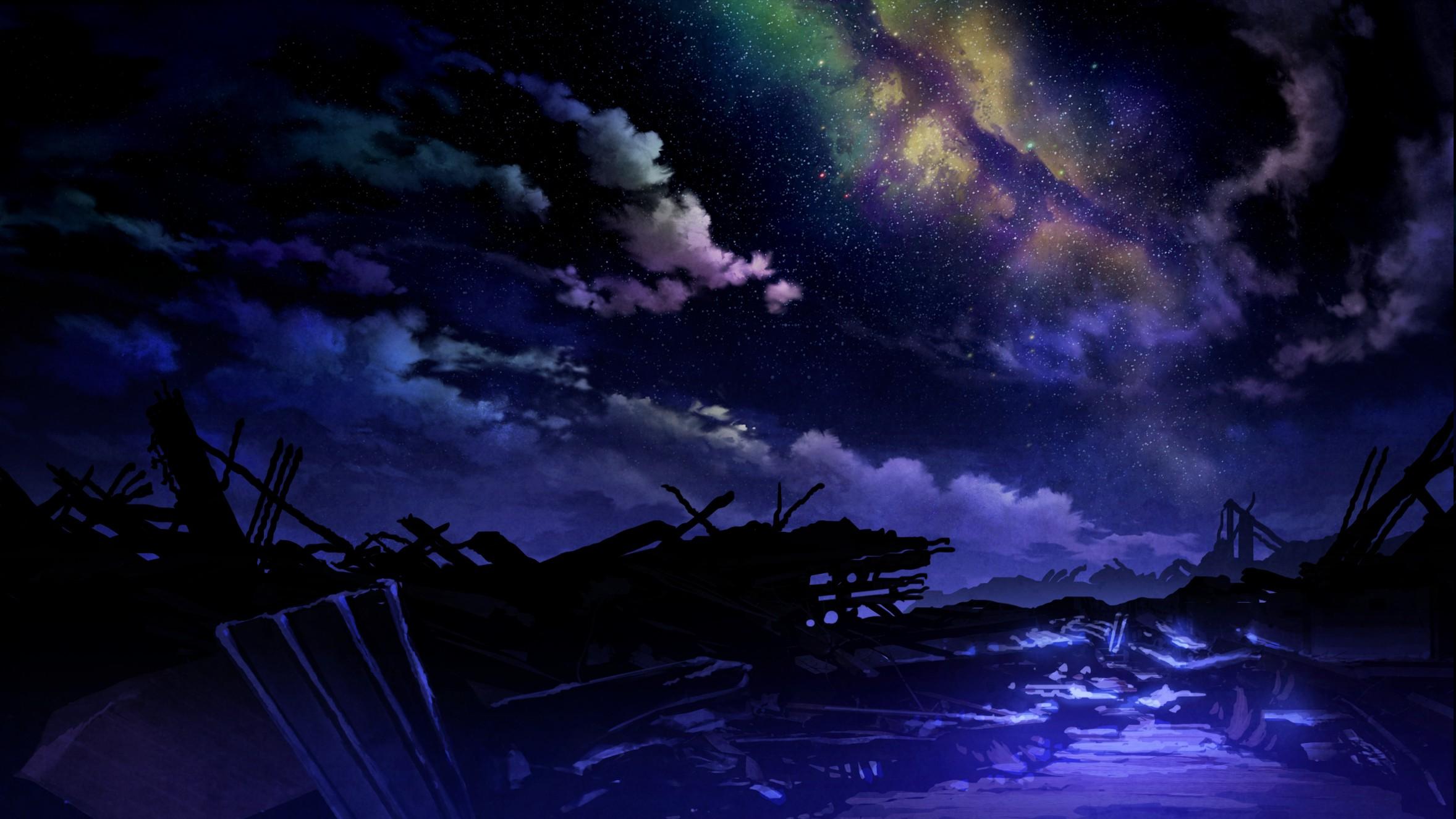 Wallpaper : Fantasy Art, Night, Anime, Nature, Apocalyptic