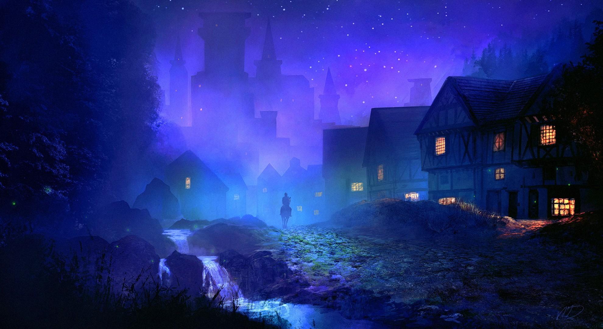 Fantasy Night Background