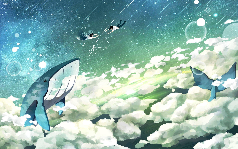 Wallpaper : fantasy art, sky, fish