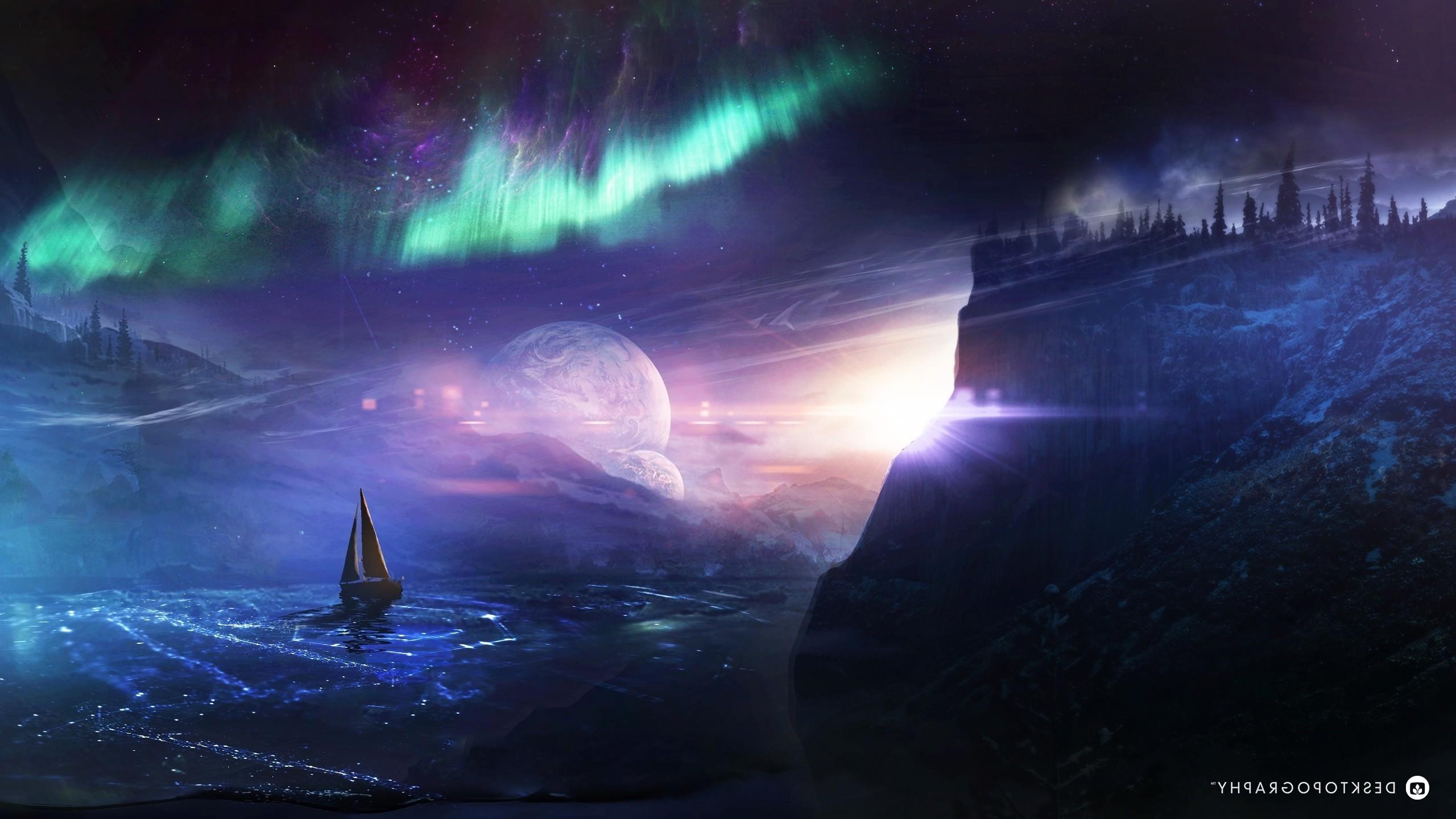 Fond Décran Art Fantastique Espace Terre Atmosphère