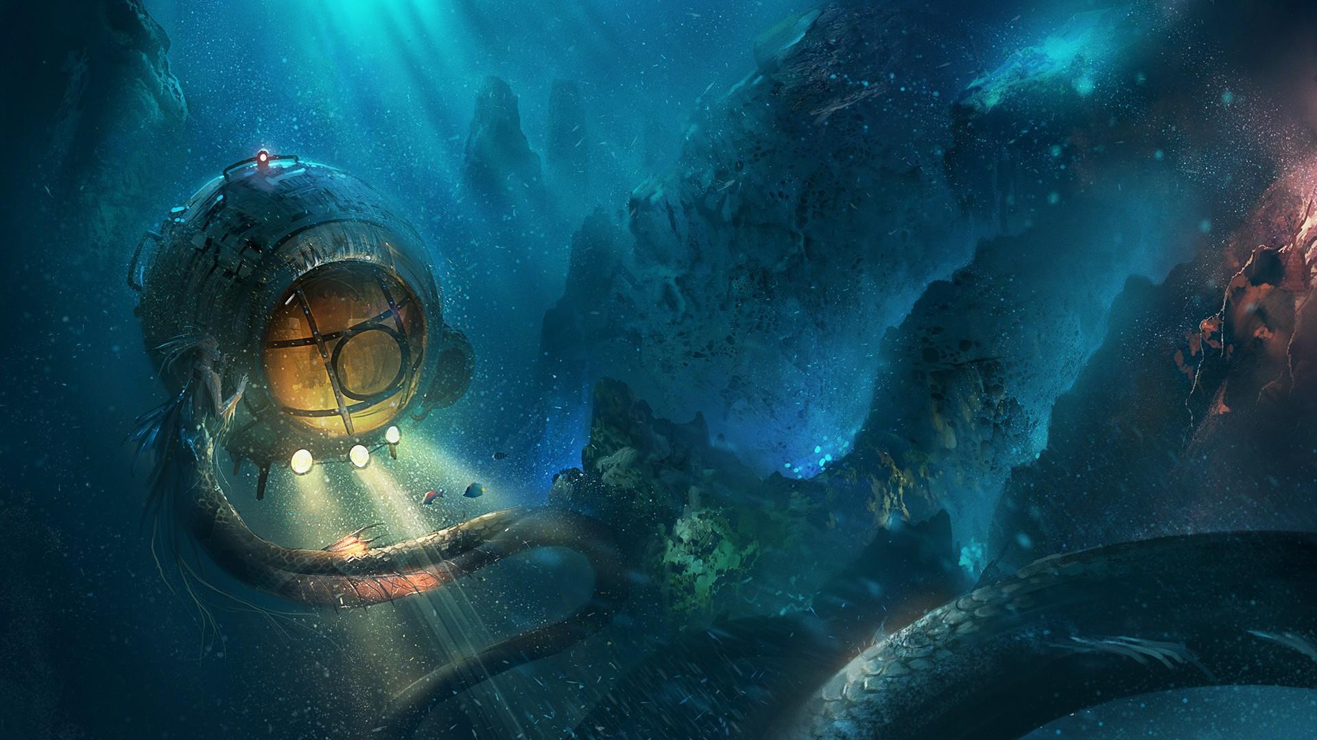 Wallpaper Fantasy Art Artwork Underwater Ocean Reef