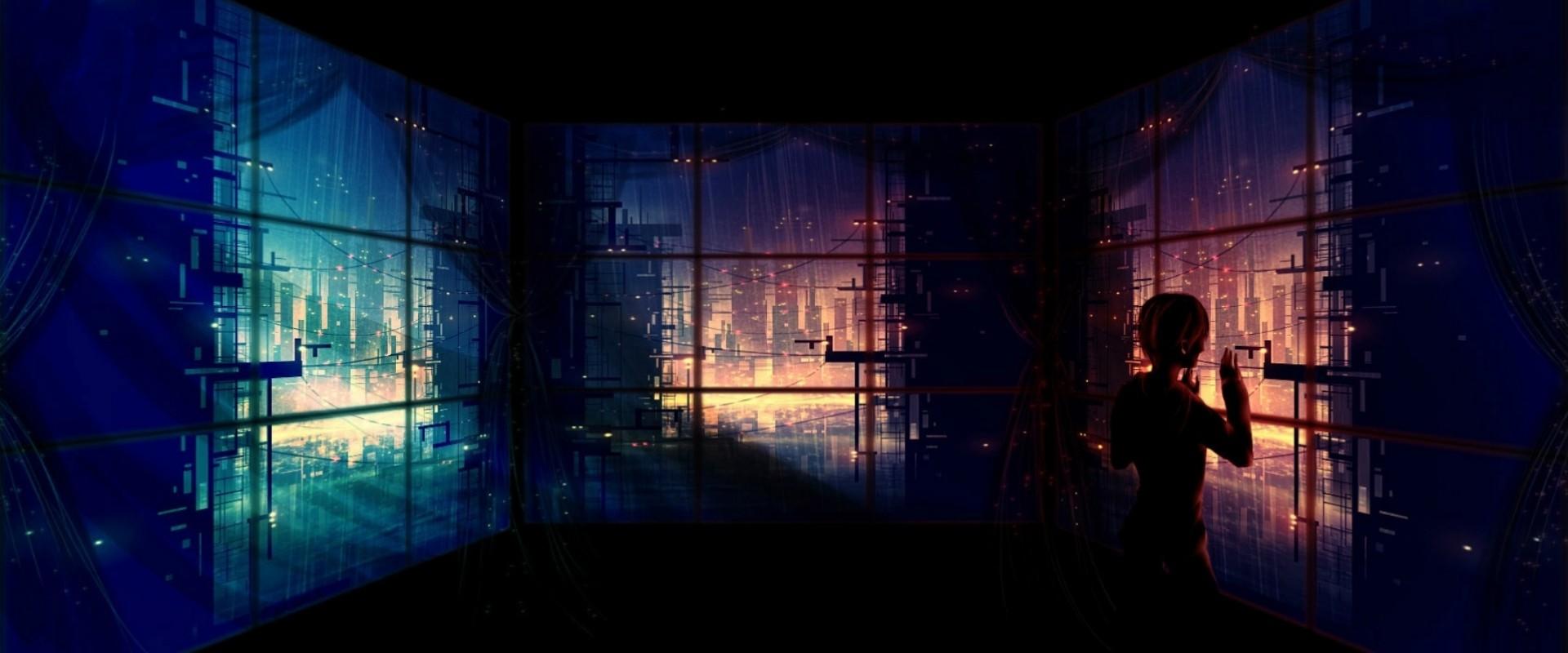 Fondos de pantalla : Arte fantasía, ventana, ciudad, noche ...