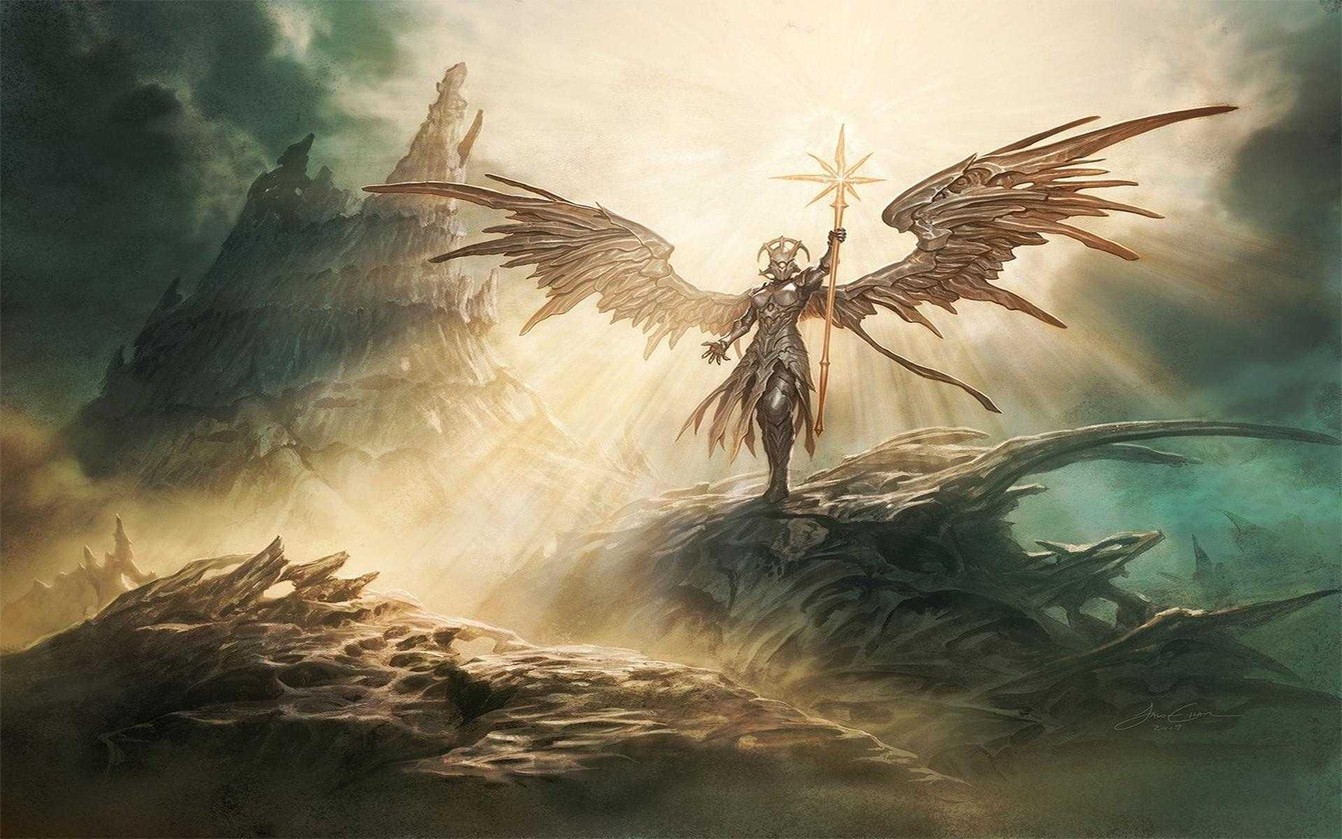 Fantasy Art Wings Angel Magic The Gathering Mythology Wing Screenshot Computer Wallpaper Fictional Character