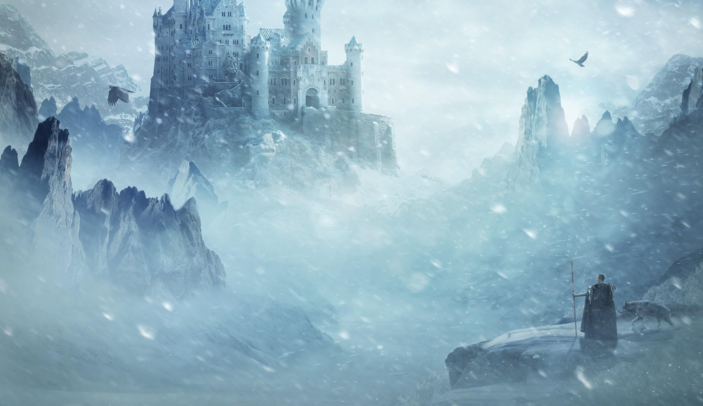 Wallpaper Fantasy Art Ice Castle Mist Arctic Freezing