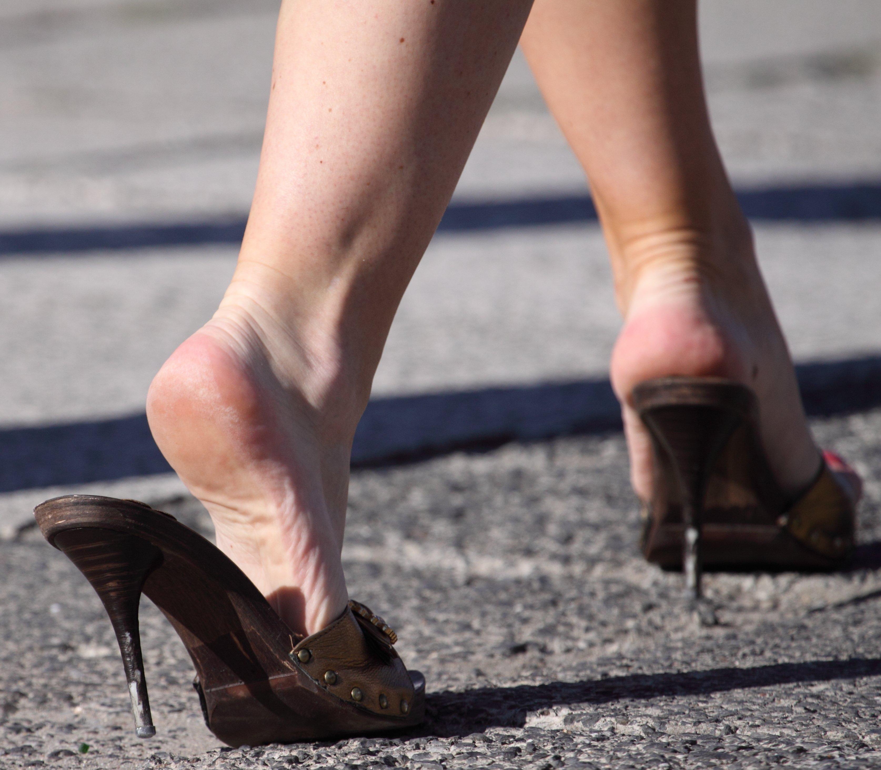 Dangling heels pics