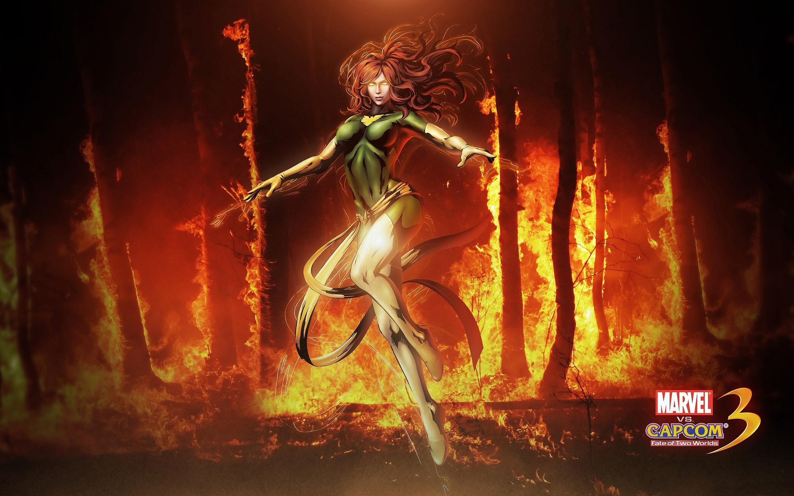 Wallpaper Fire X Men Phoenix Superheroines Jean Grey