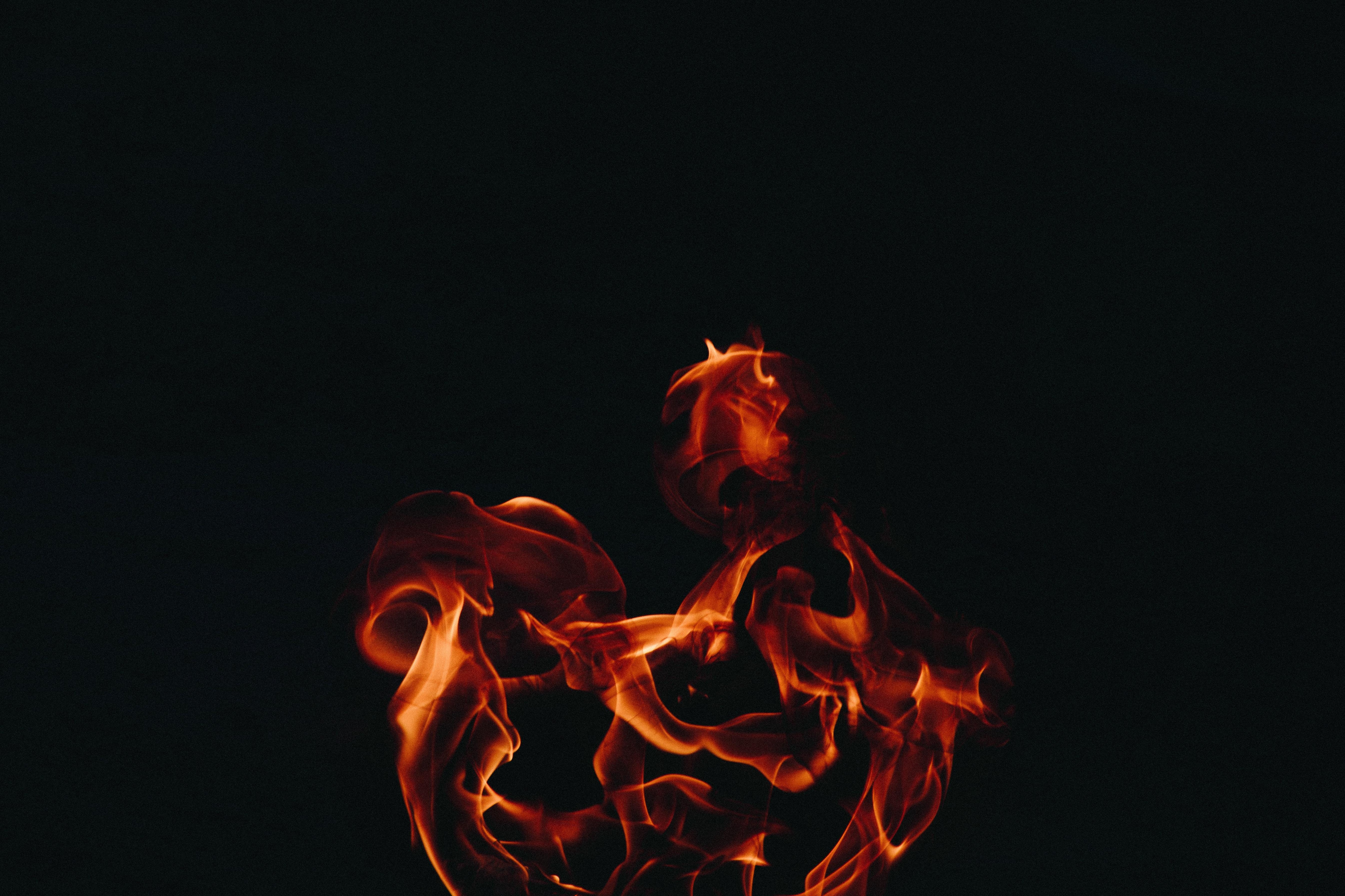 Fire Flame Dark Background