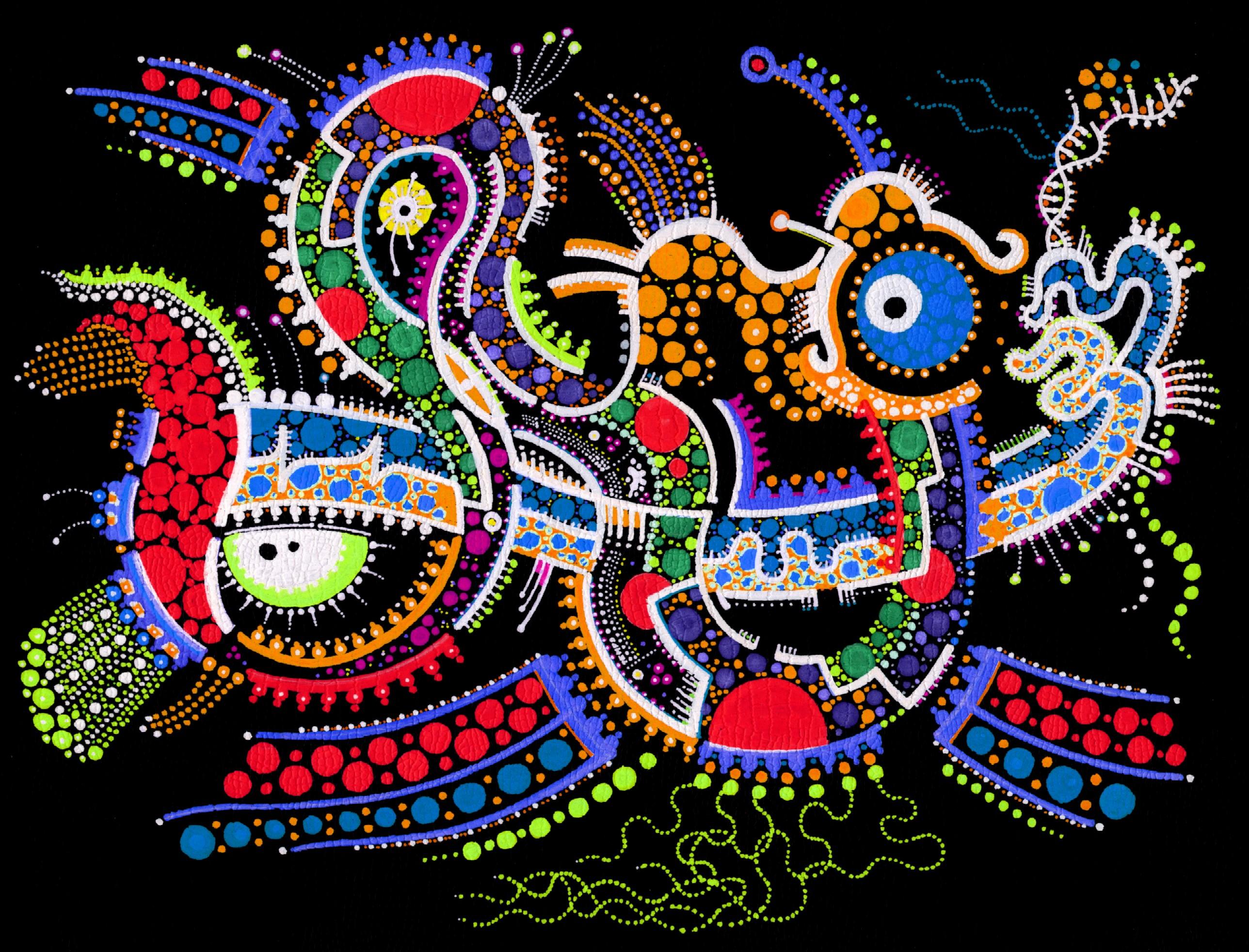 Wallpaper : fish, ART, cat, 3D, render, space, Jazz, drawings