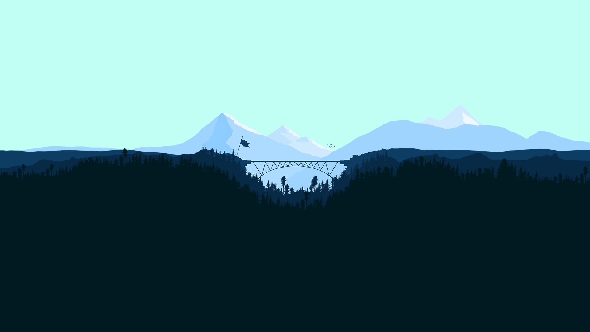 Minimalism Mountain Peak Full Hd Wallpaper: Wallpaper : Fkyhdino, Landscape, Artwork, Mountains