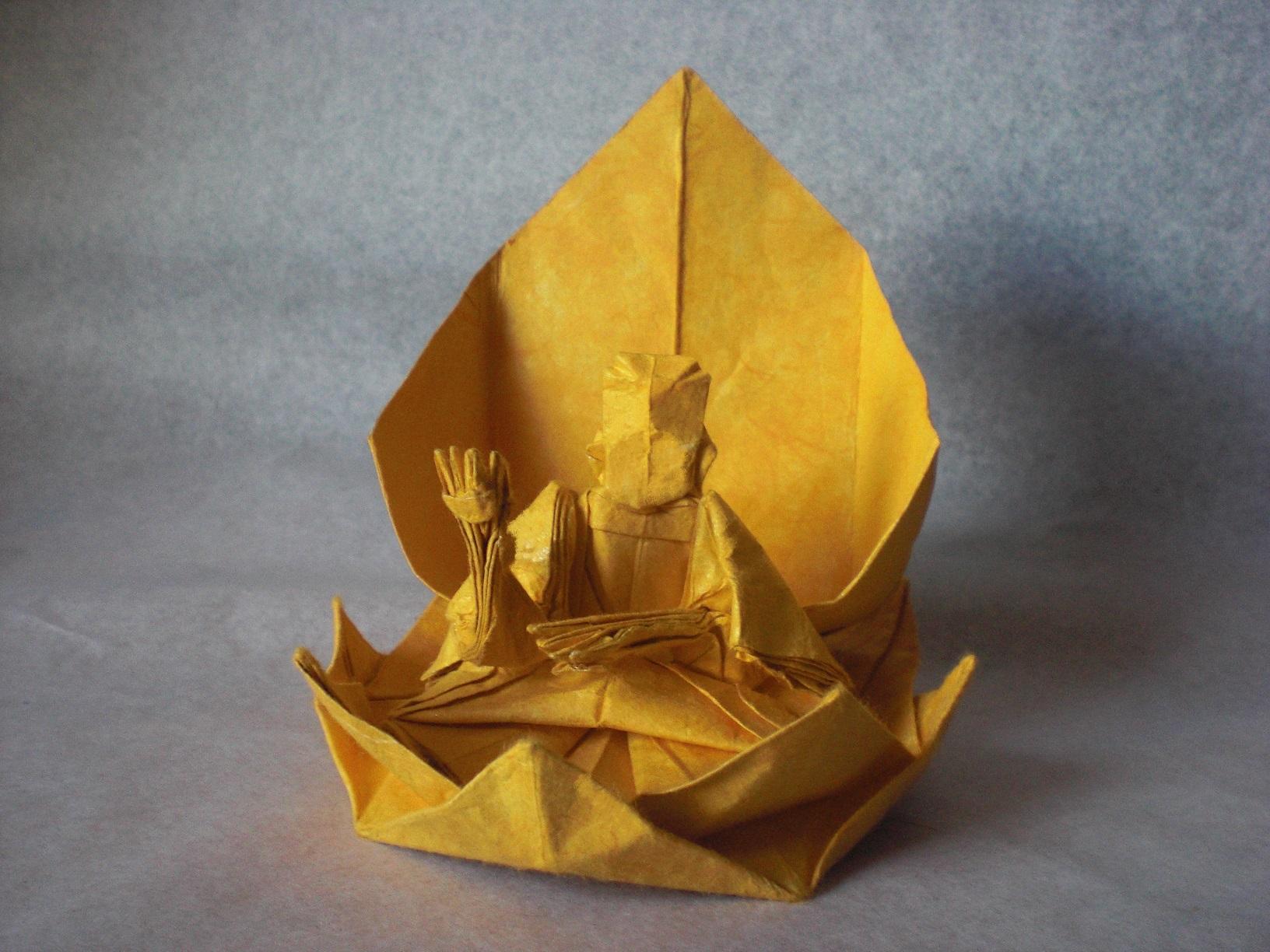 Wallpaper Flower Origami Lotus Buddha Flor Papel Oriental