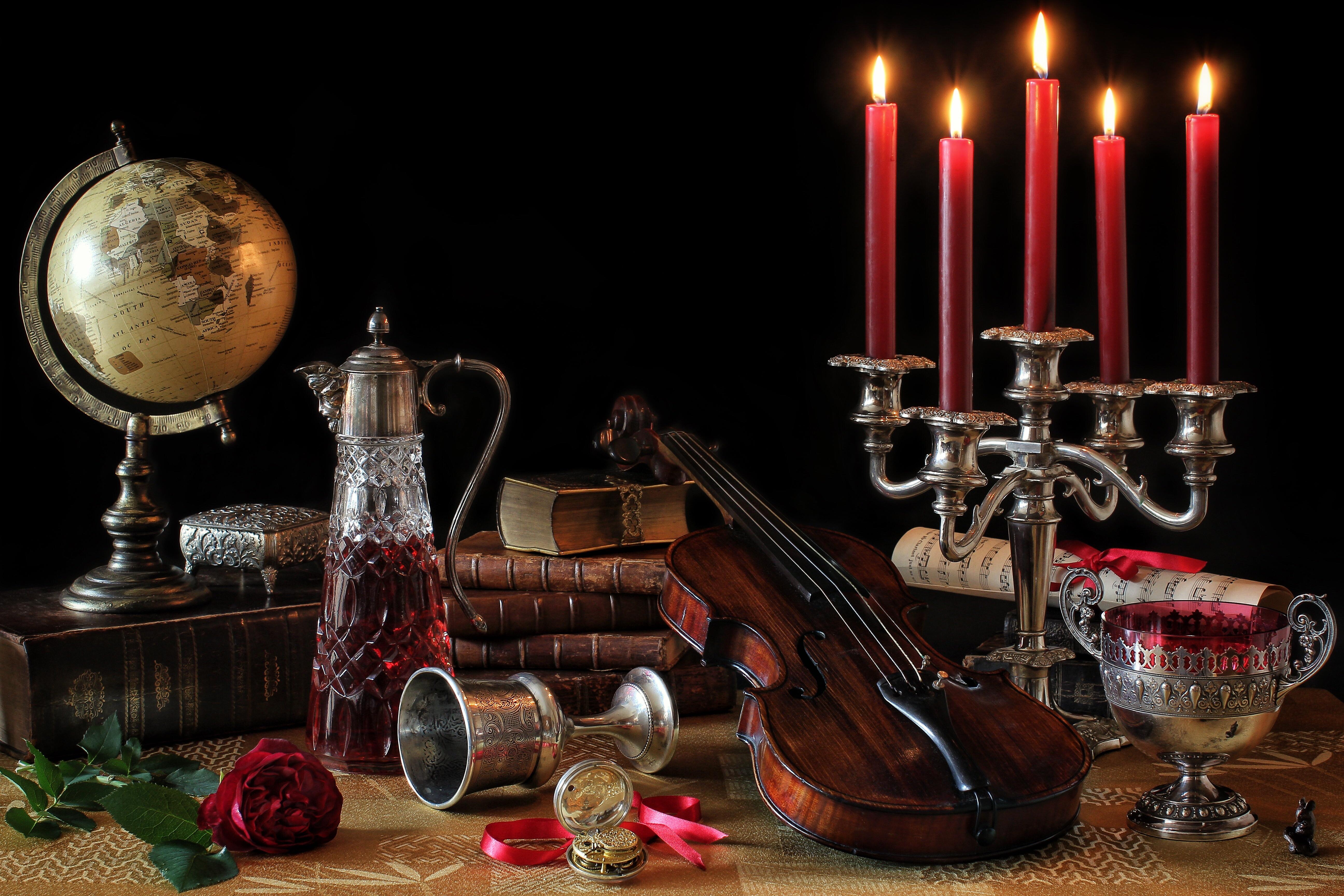 Fond D 233 Cran Fleur Rose Globe Violon Lumi 232 Re Des