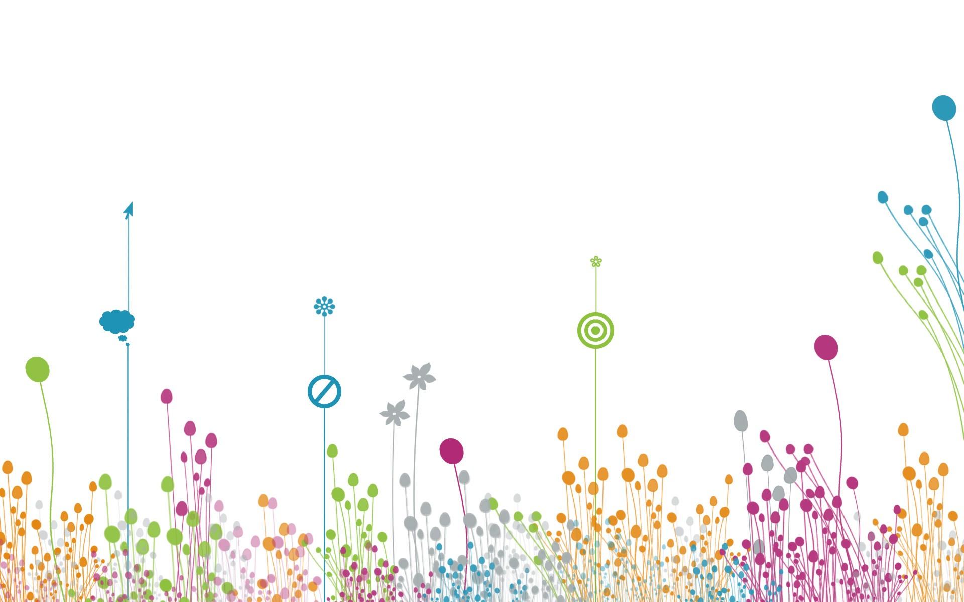 Fond d 39 cran abstrait herbe ciel conception graphique for Ligne de fleurs
