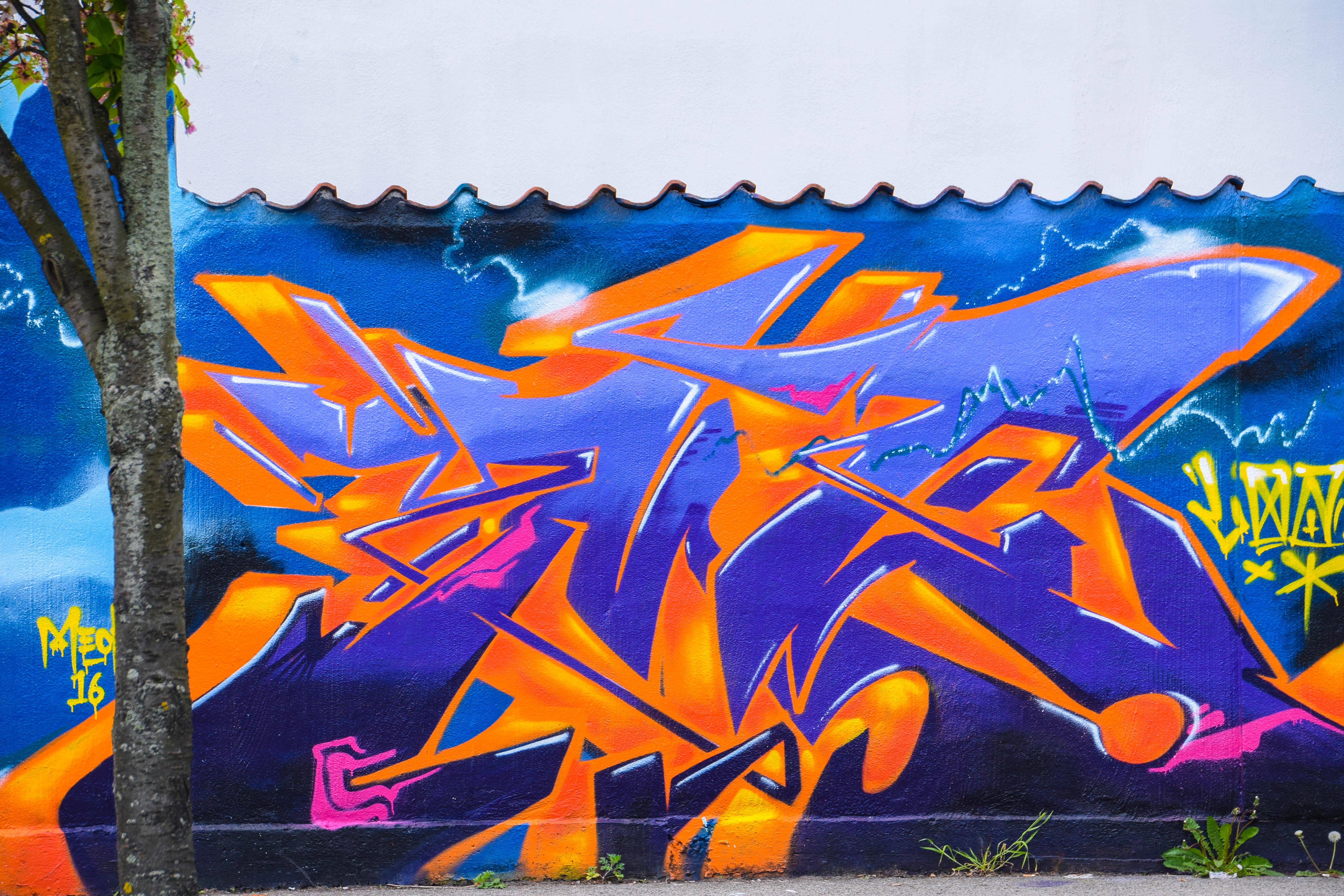 Graffiti Farben.Hintergrundbilder Blumen Stadt Park Graffiti Schweden
