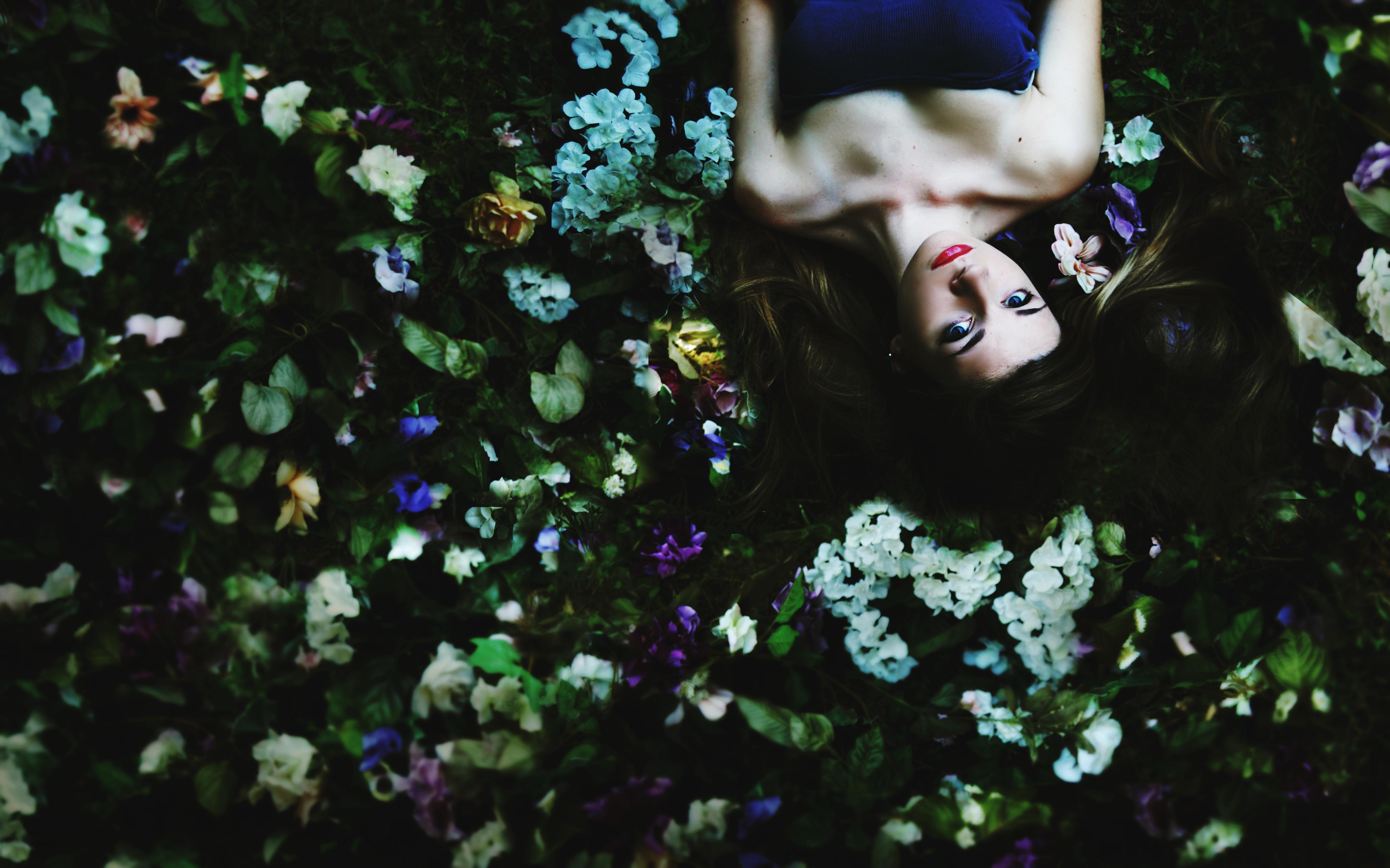flowers floral self dark Conceptual springtime conceptualphotography rebeccamahoney