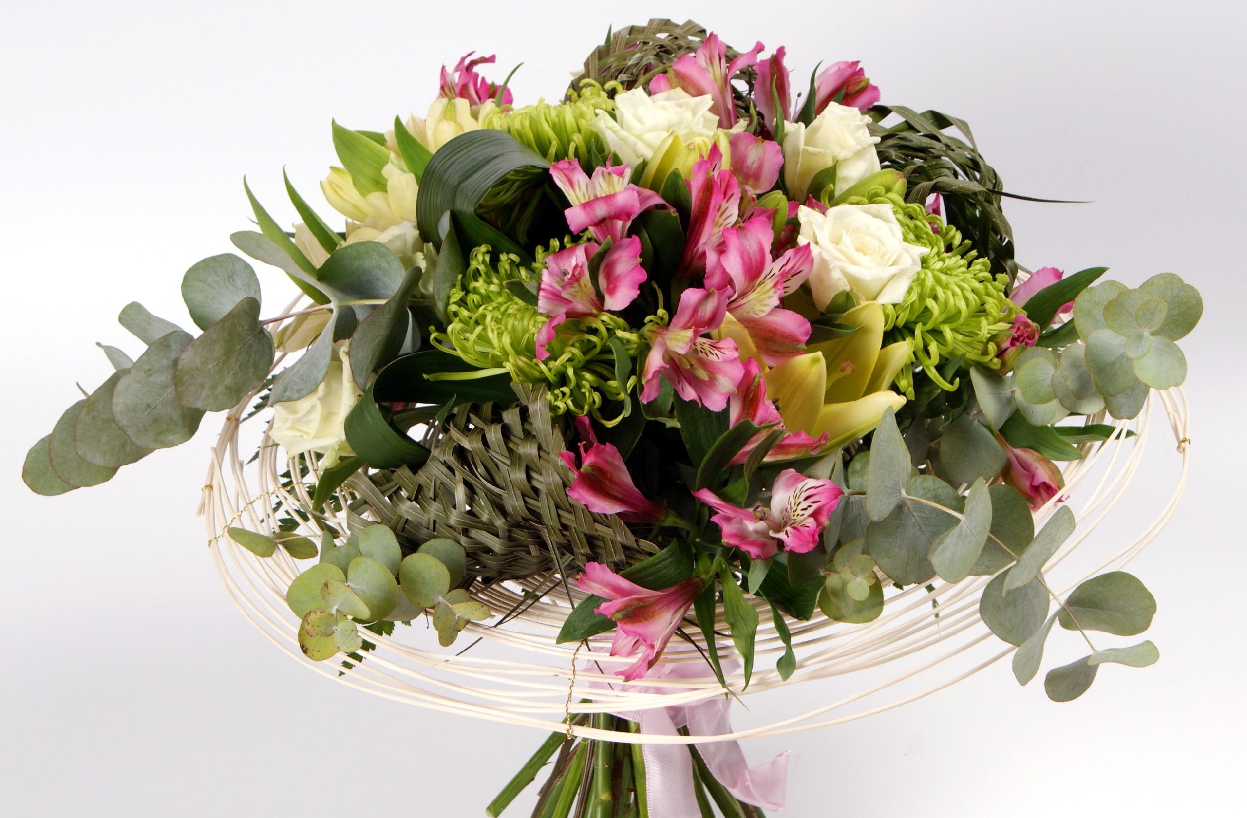 Afskårne Roser baggrunde : liljer, blomst, skønhed, dekoration, roser, buket