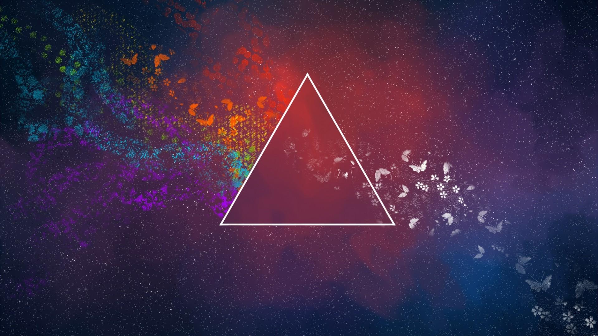 Wallpaper Flowers Night Abstract Galaxy Sky Triangle Nebula