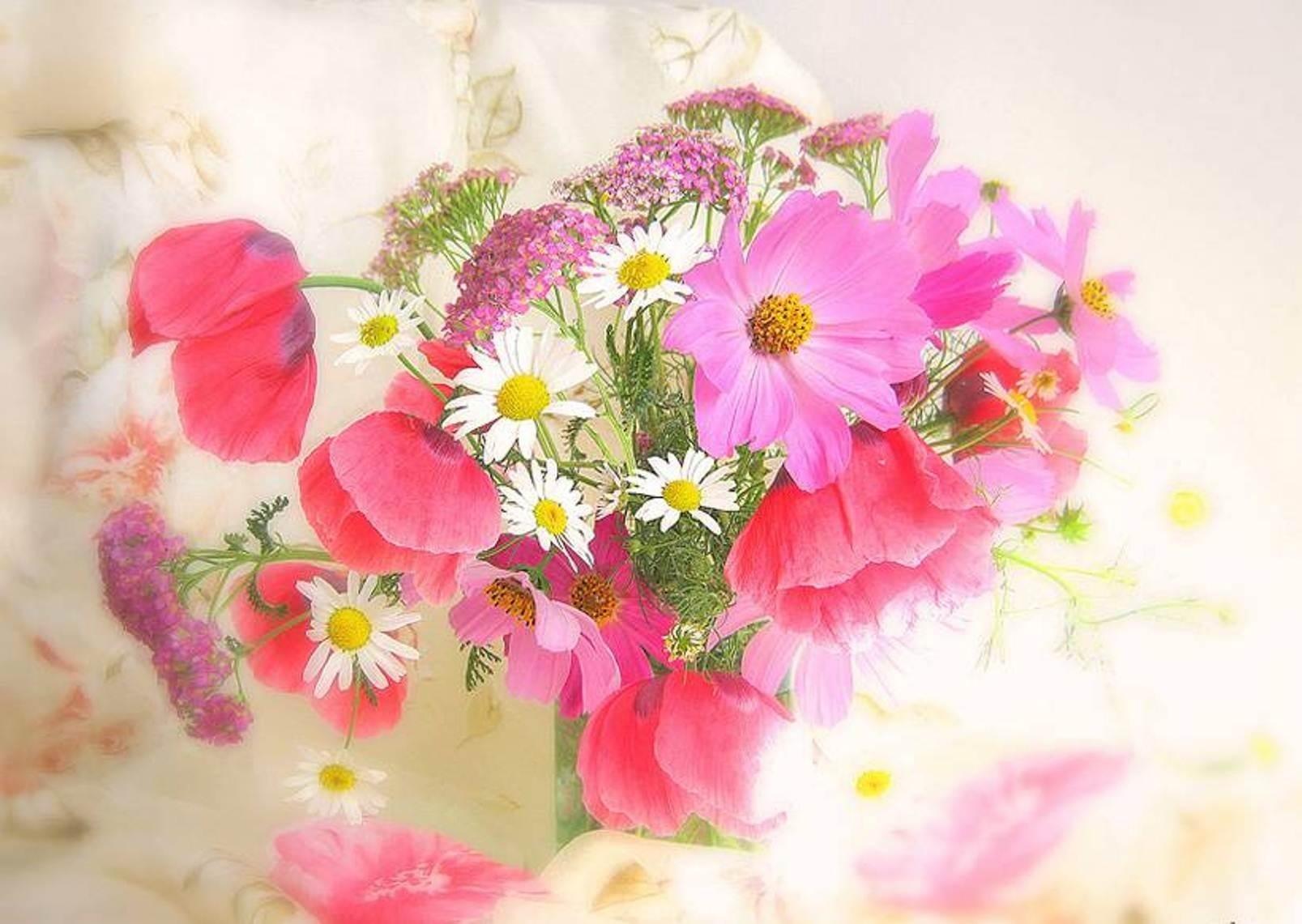 Открытки с нежными цветами букеты