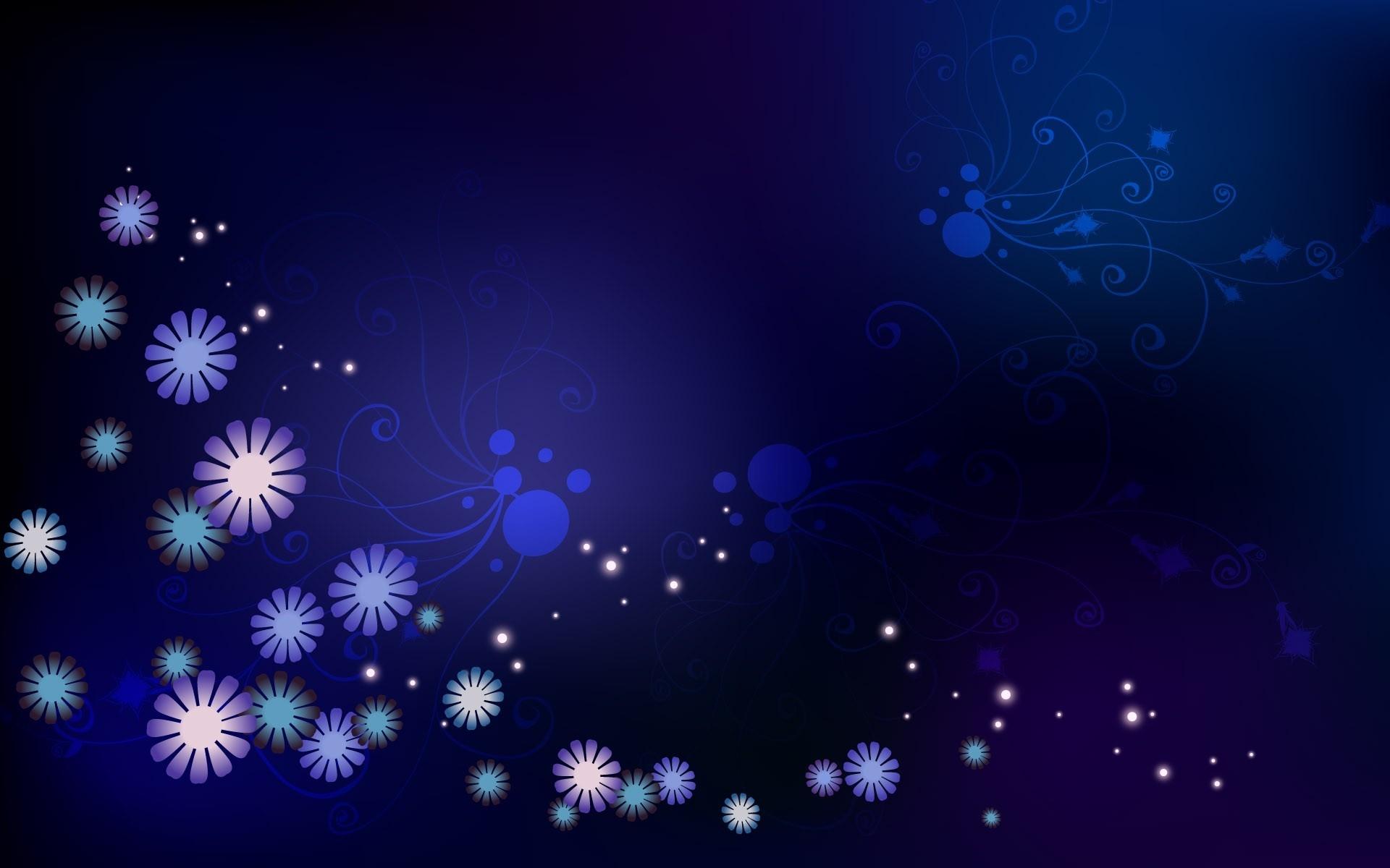 Wallpaper Flowers Stars Dots Circles Light Color