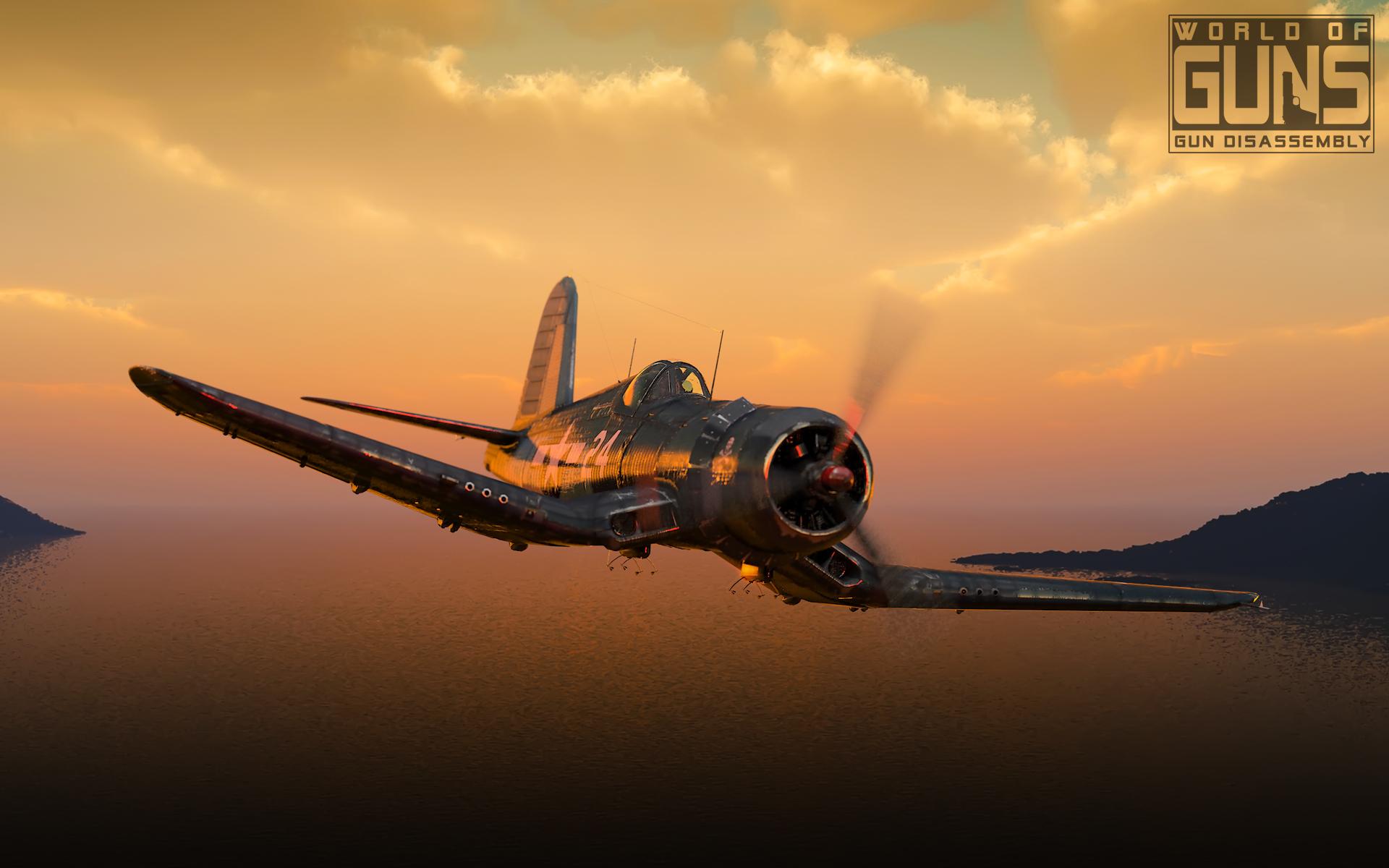 Обои Вторая мировая, F4u corsair, chance vought. Авиация foto 10