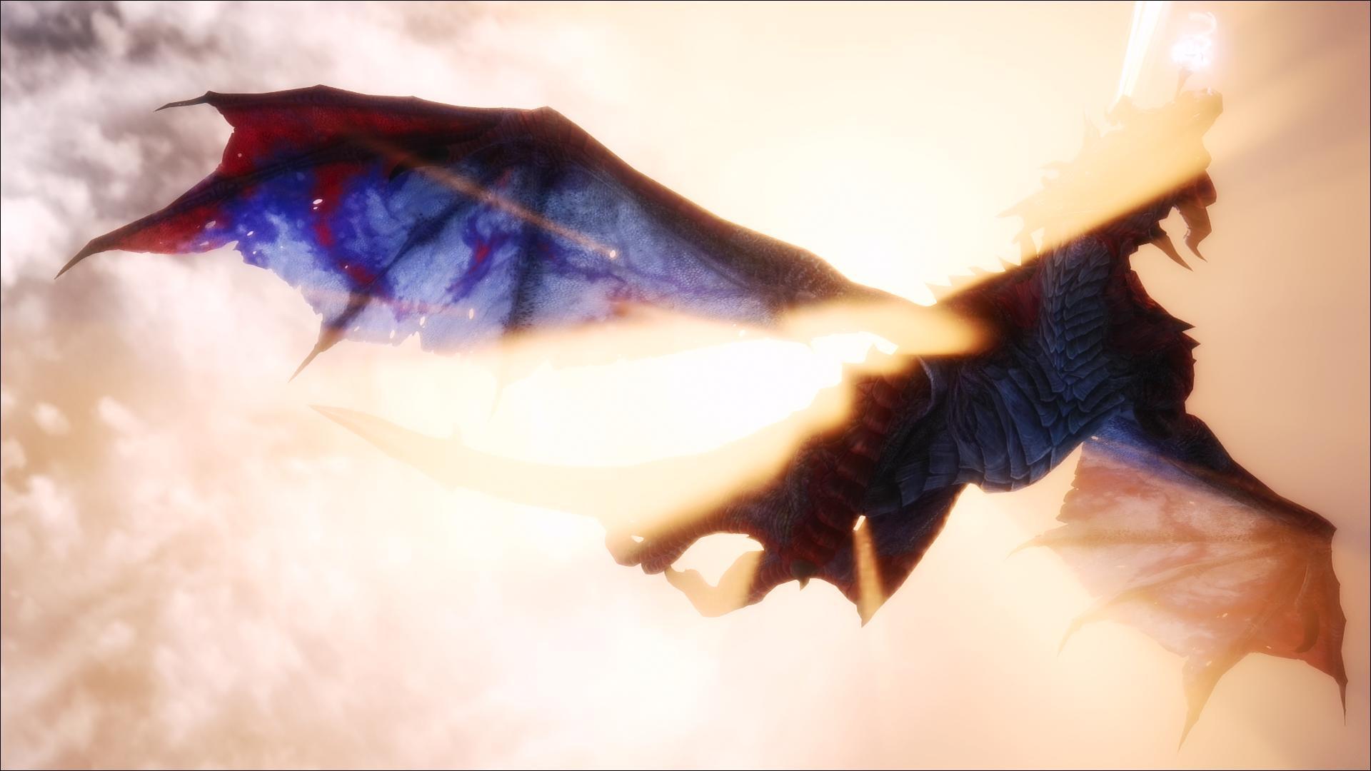 Wallpaper Flying Dragon Flight Scenic Dragons Fantasy