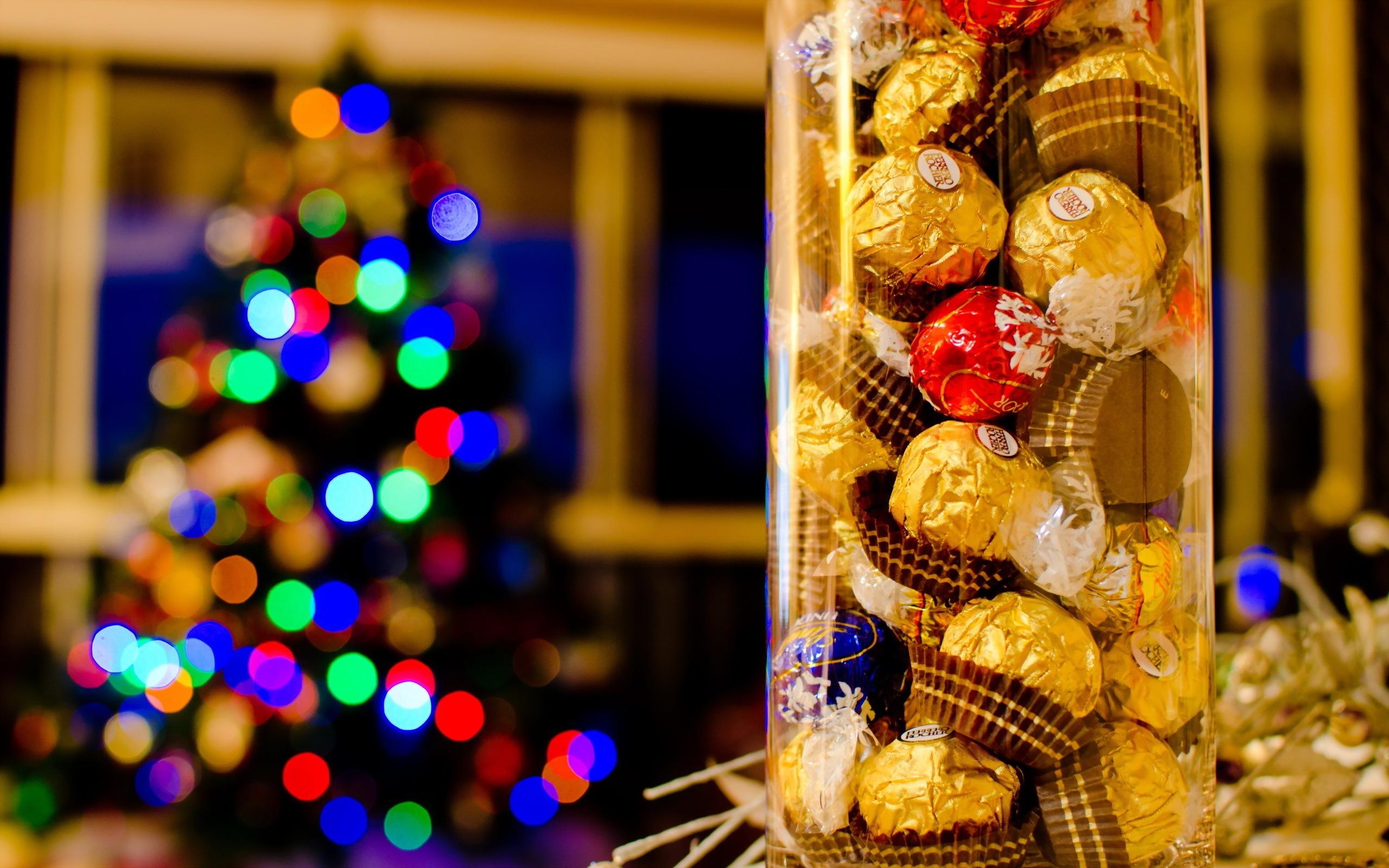 Большие конфеты к новому году
