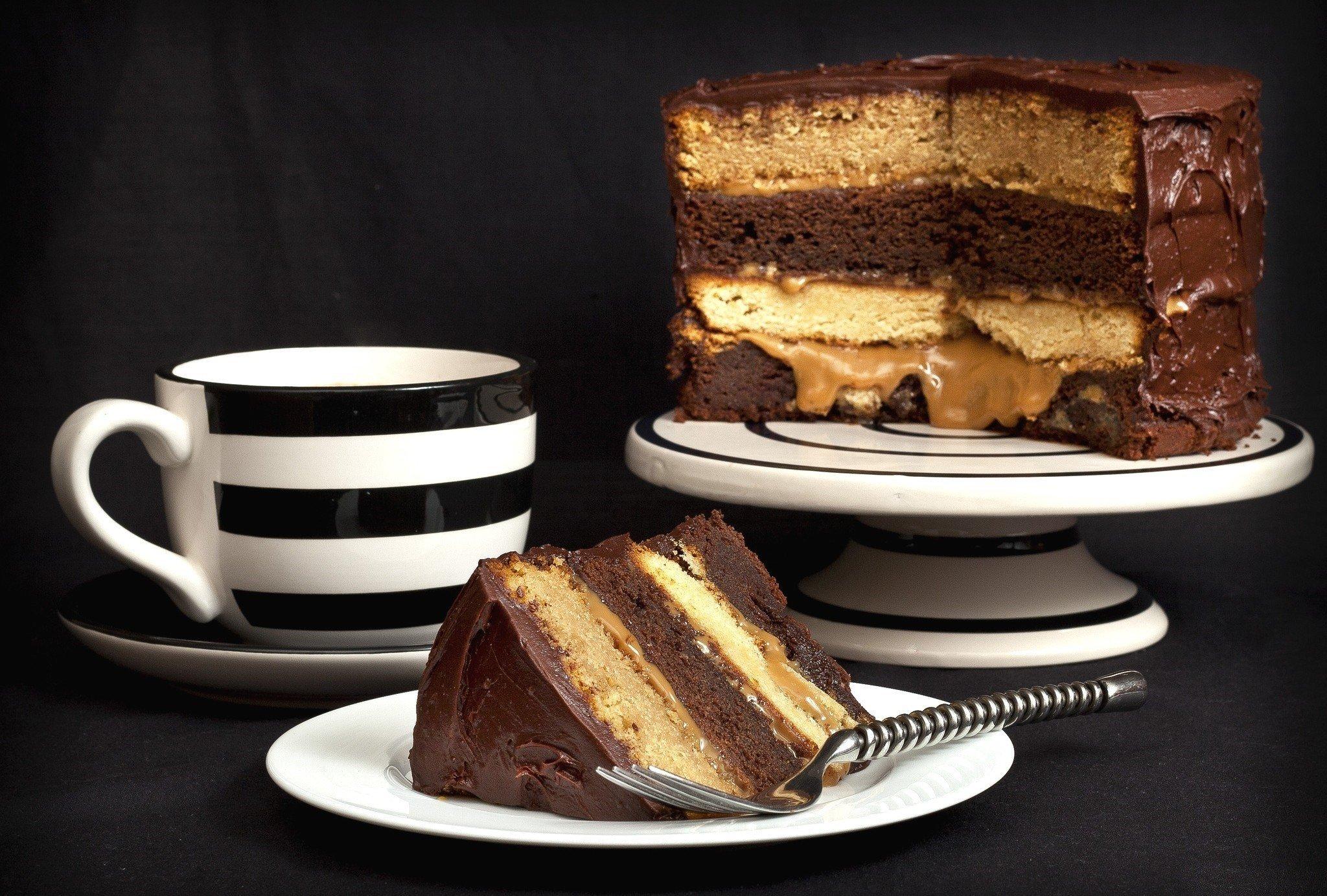 Baggrunde Mad Kage Kop Dessert Chokoladekage Kiks