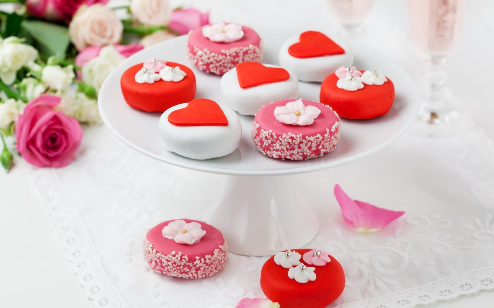 Hintergrundbilder Lebensmittel Blumen Herz Rot Schmuck