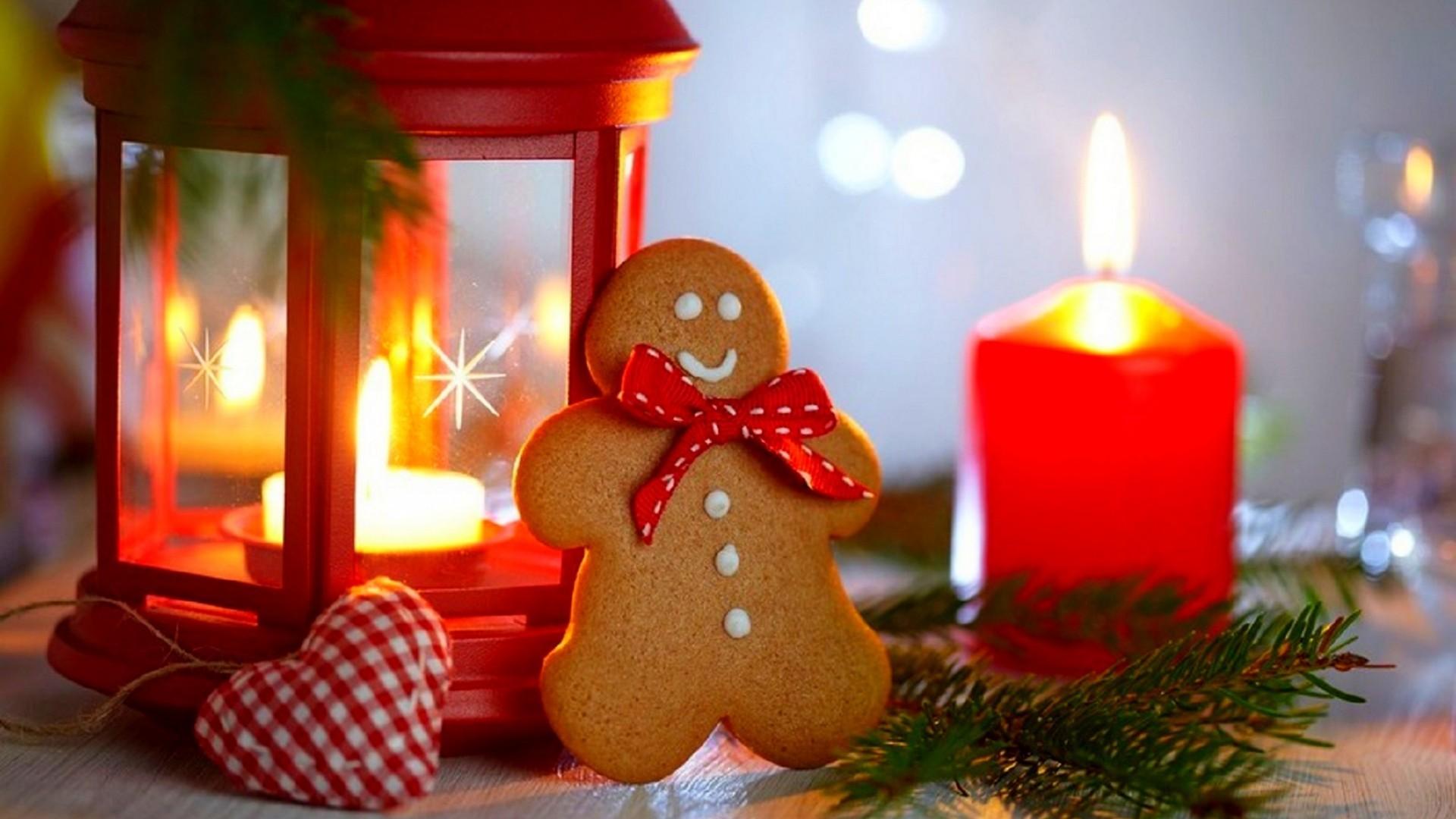 Fond d 39 cran aliments c ur rouge lanterne bougies for Sfondi natalizi 1920x1080