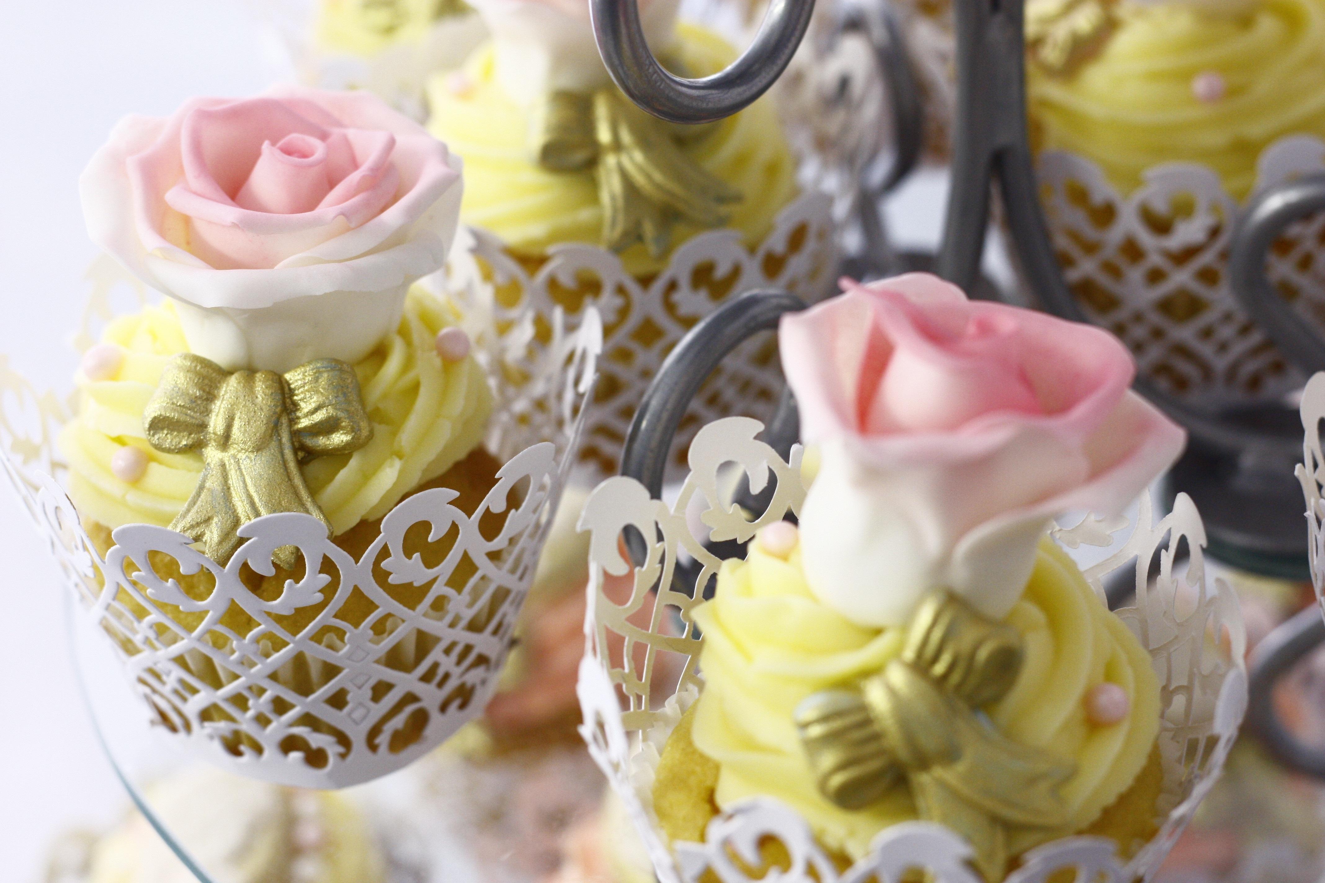 Fond Décran Aliments Jaune Dessert Muffins Glaçage Fleur