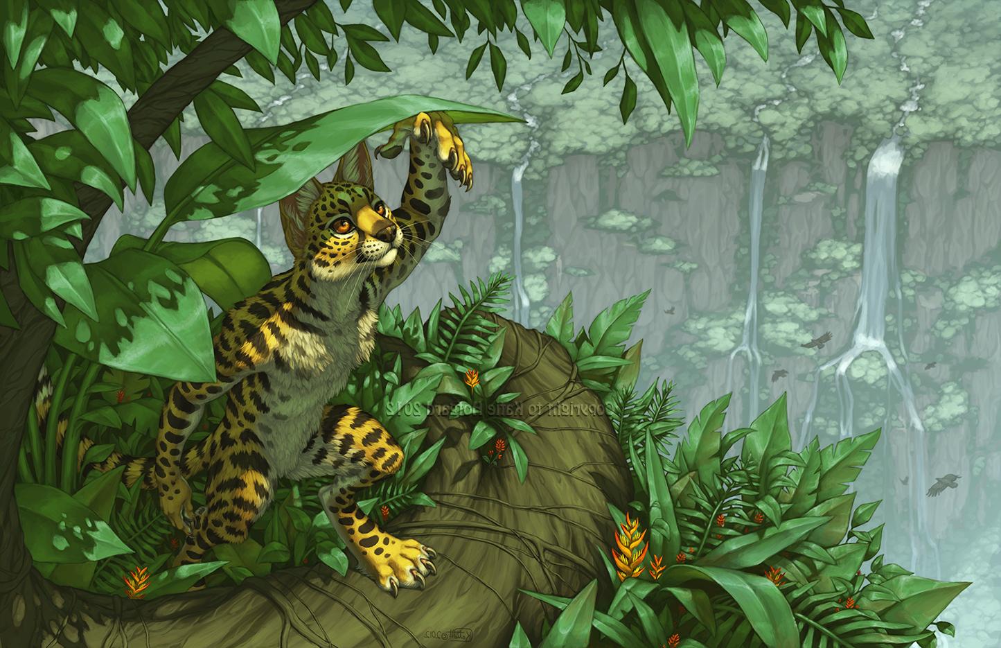 Wallpaper Forest Animals Tiger Furry Anthro Big