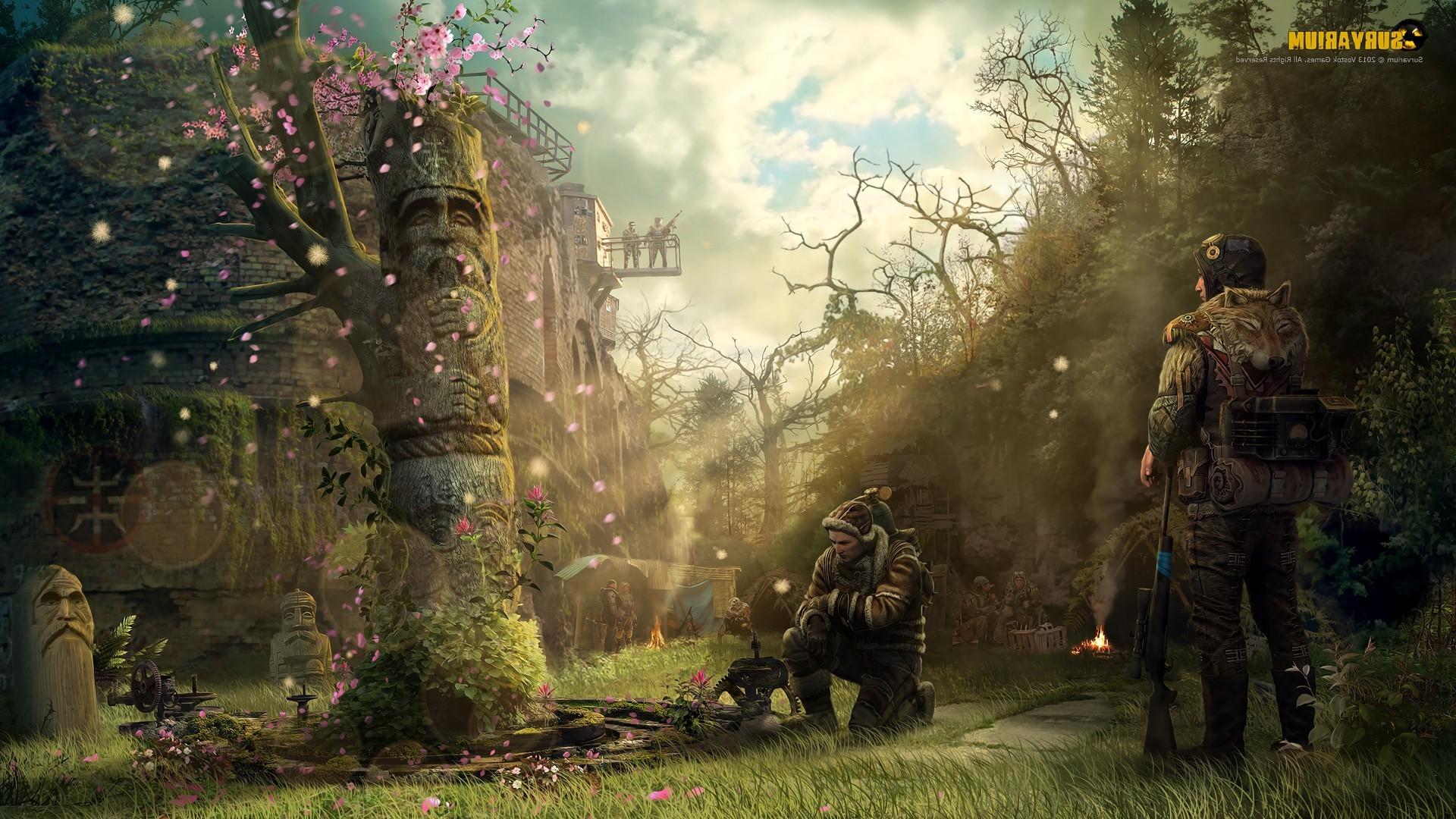 デスクトップ壁紙 森林 黙示録的な ジャングル サバイバル 秋