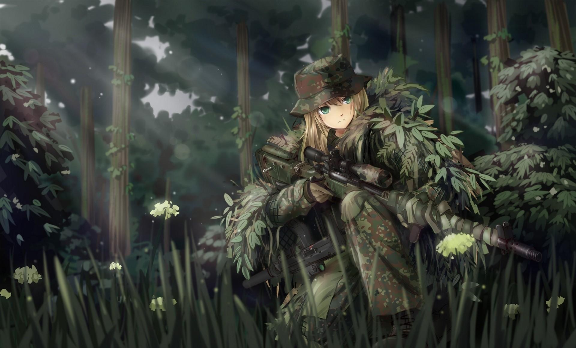 Fond d'écran : forêt, pistolet, Art fantastique, Anime ...