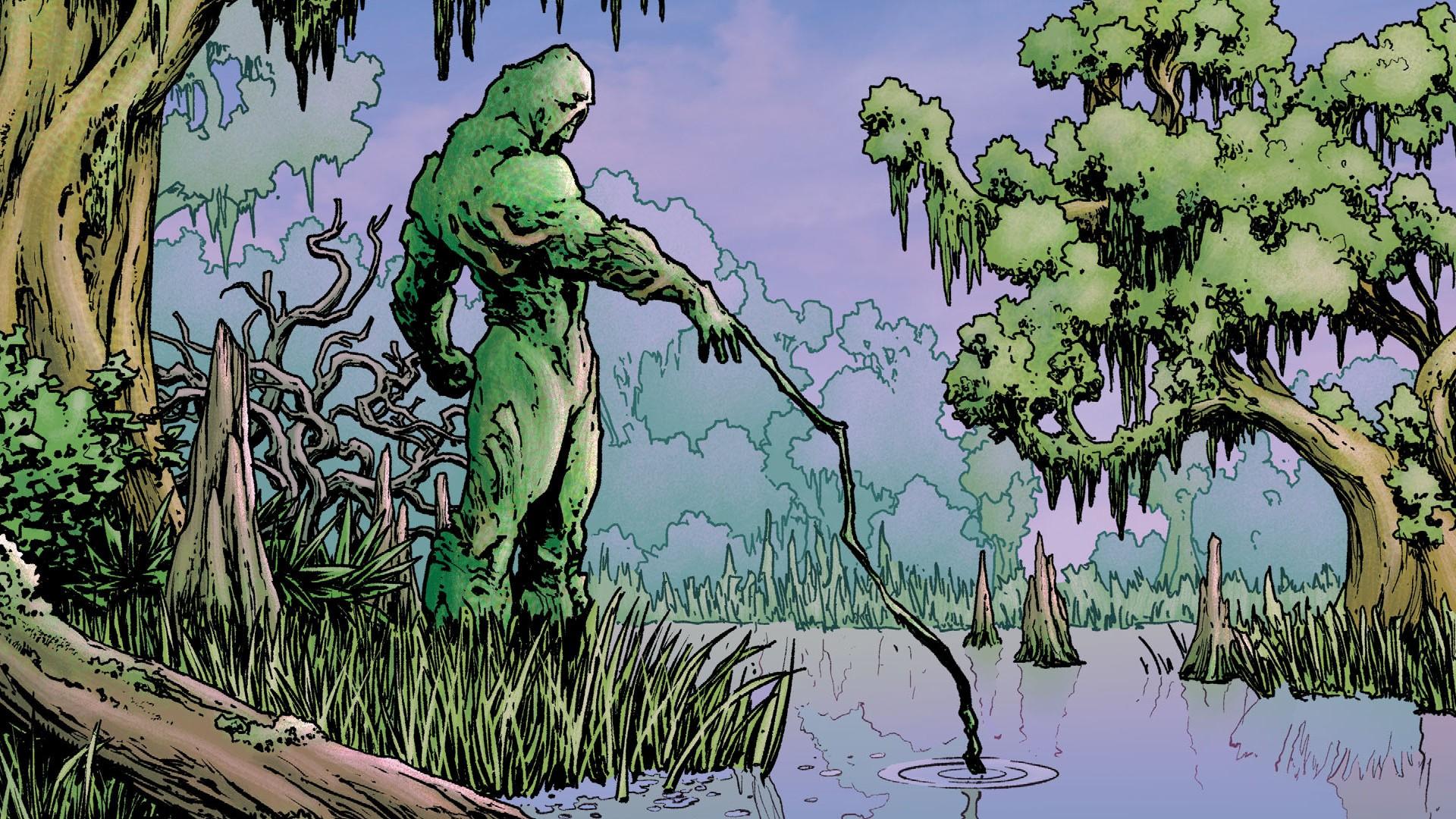 Fond d 39 cran for t illustration vert dessin anim for Plante jungle