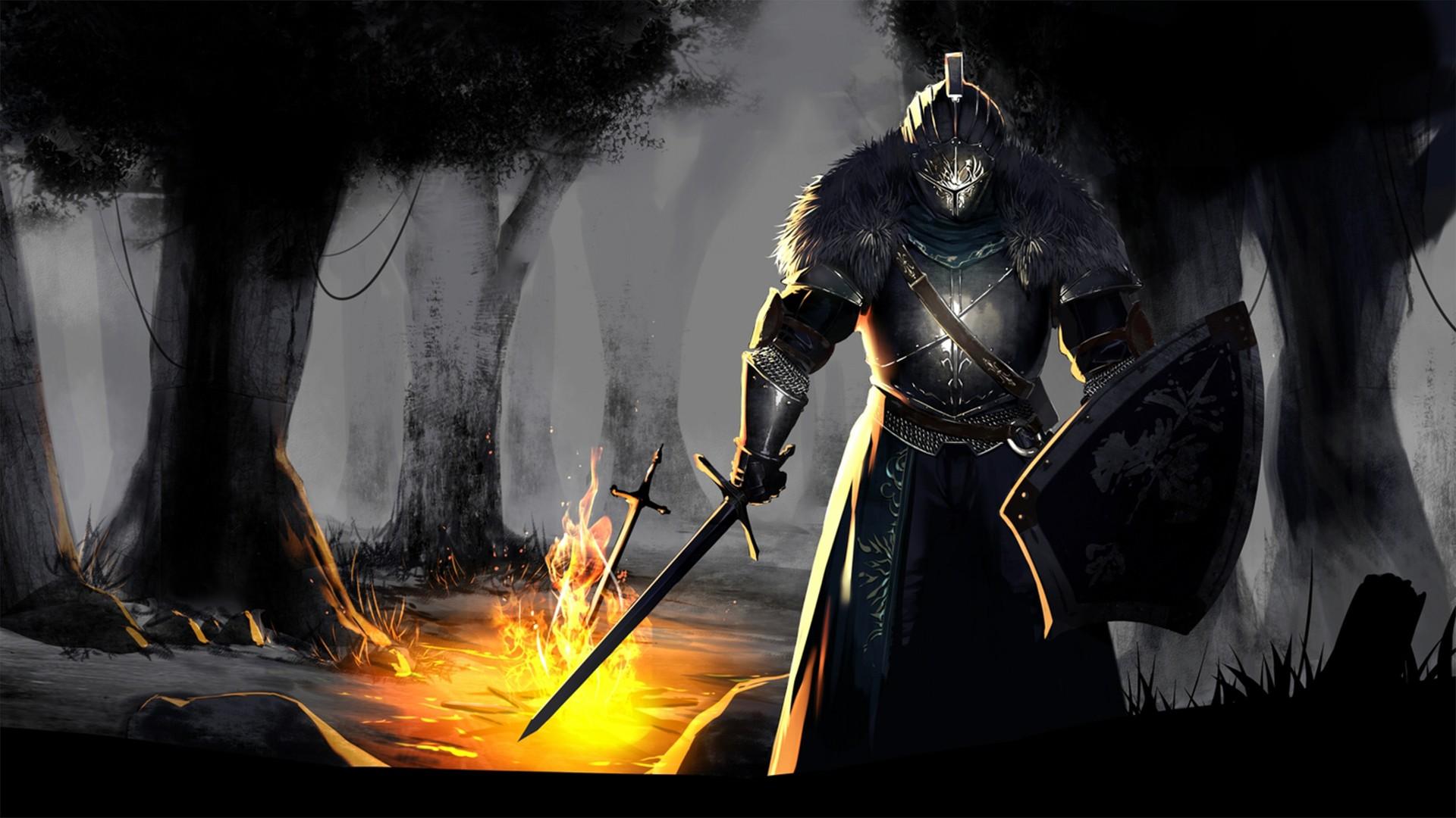 Wallpaper Forest Video Games Fantasy Art Dark Souls Ii Fire