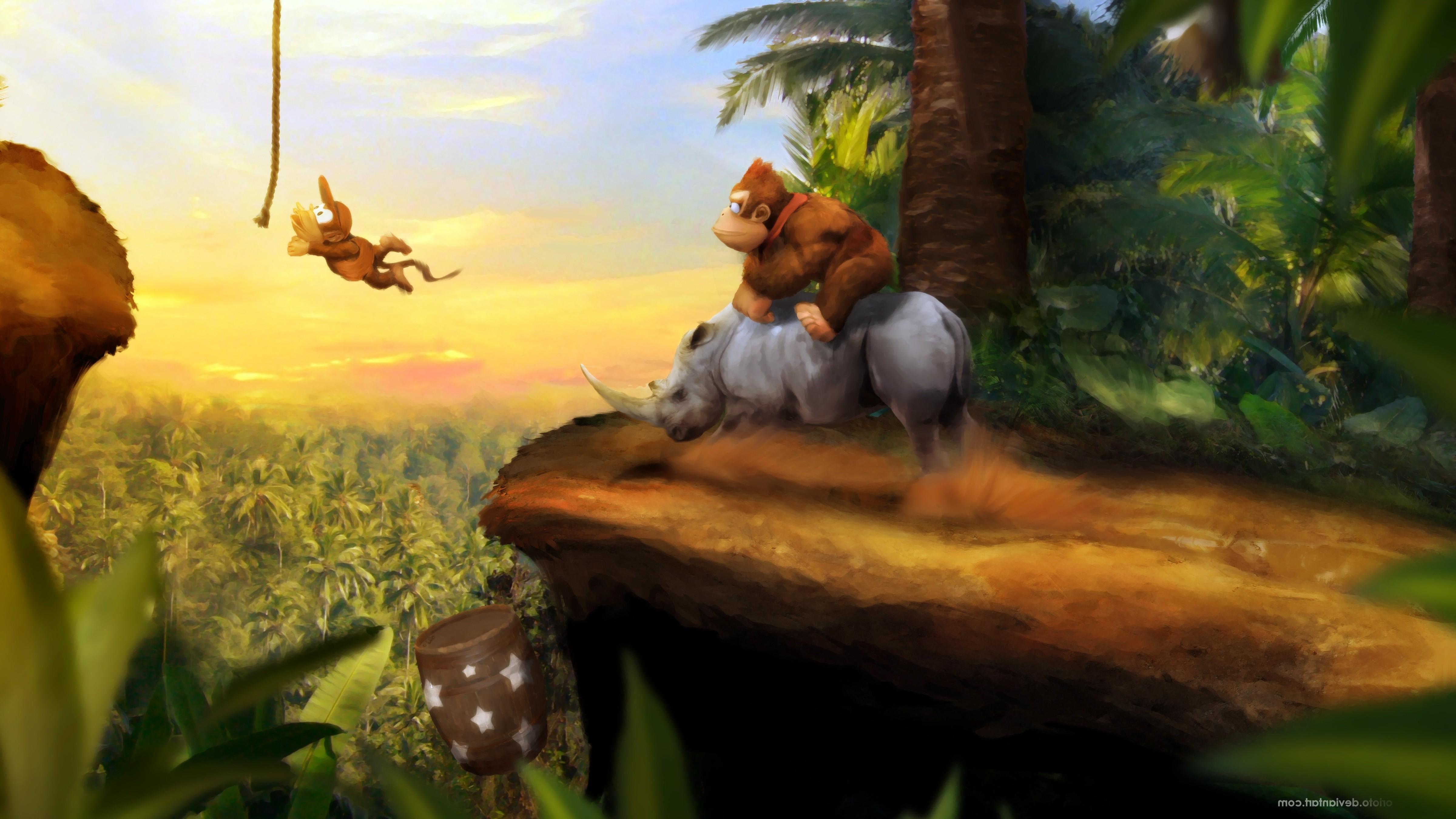 Fondos De Pantalla Bosque Videojuegos Selva Donkey Kong