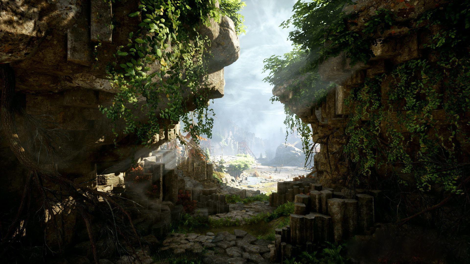Jungle Waterfall Wallpaper Hd: Wallpaper : Forest, Waterfall, Video Games, Rock, Nature