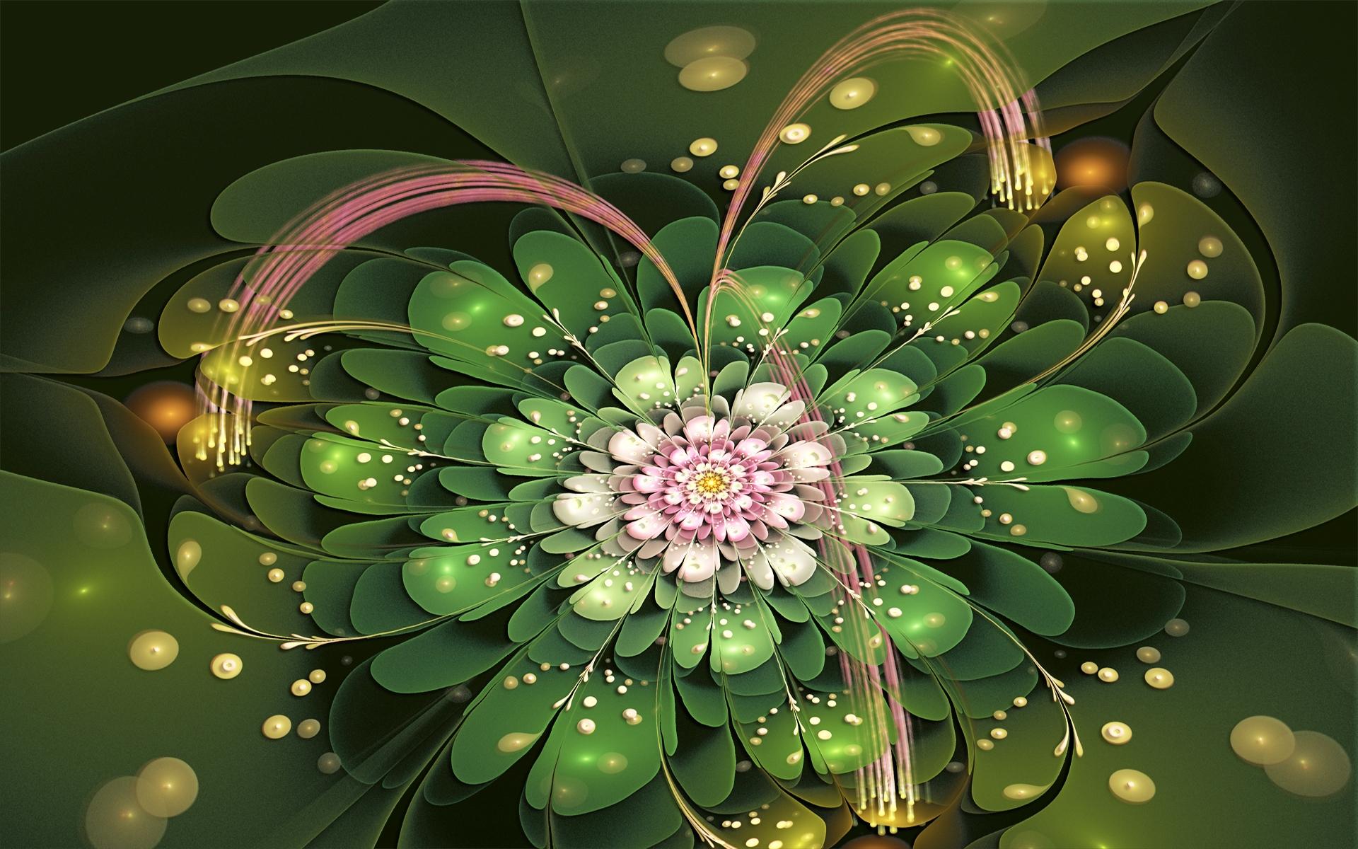 Цветы фракталы картинки