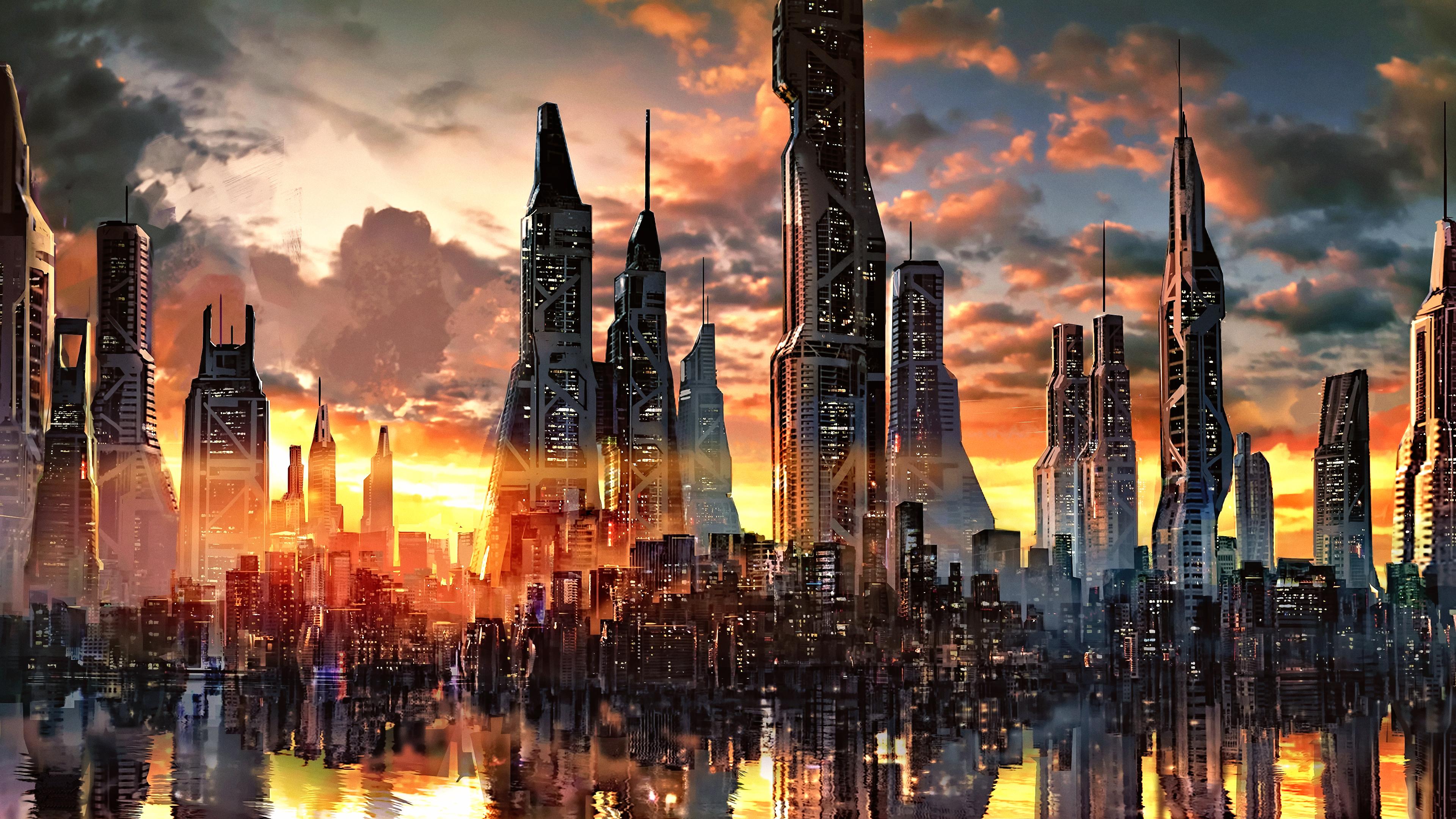 картинки на телефон город будущего смыв обеспечивается простой