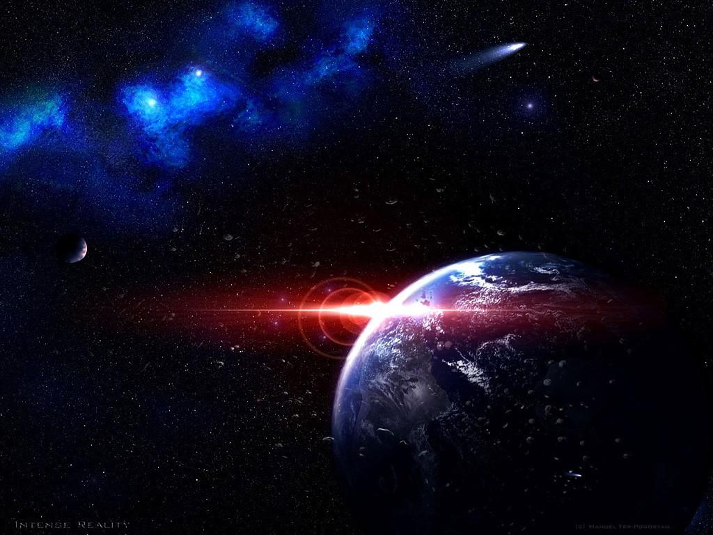 Papel de parede : galáxia, planeta, Terra, Arte do espaço ...