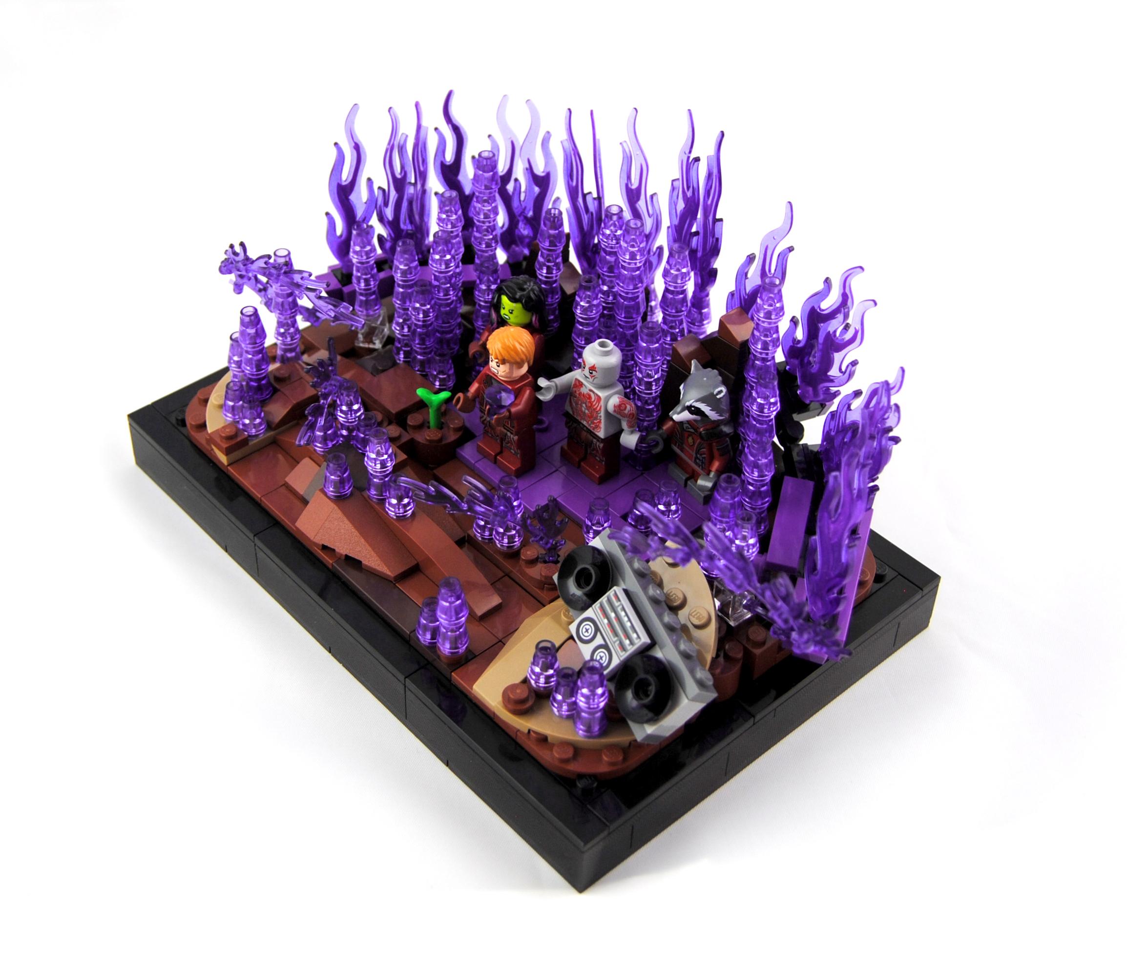 Wallpaper Galaxy Space Purple Lego Fire Gamora Groot Stone