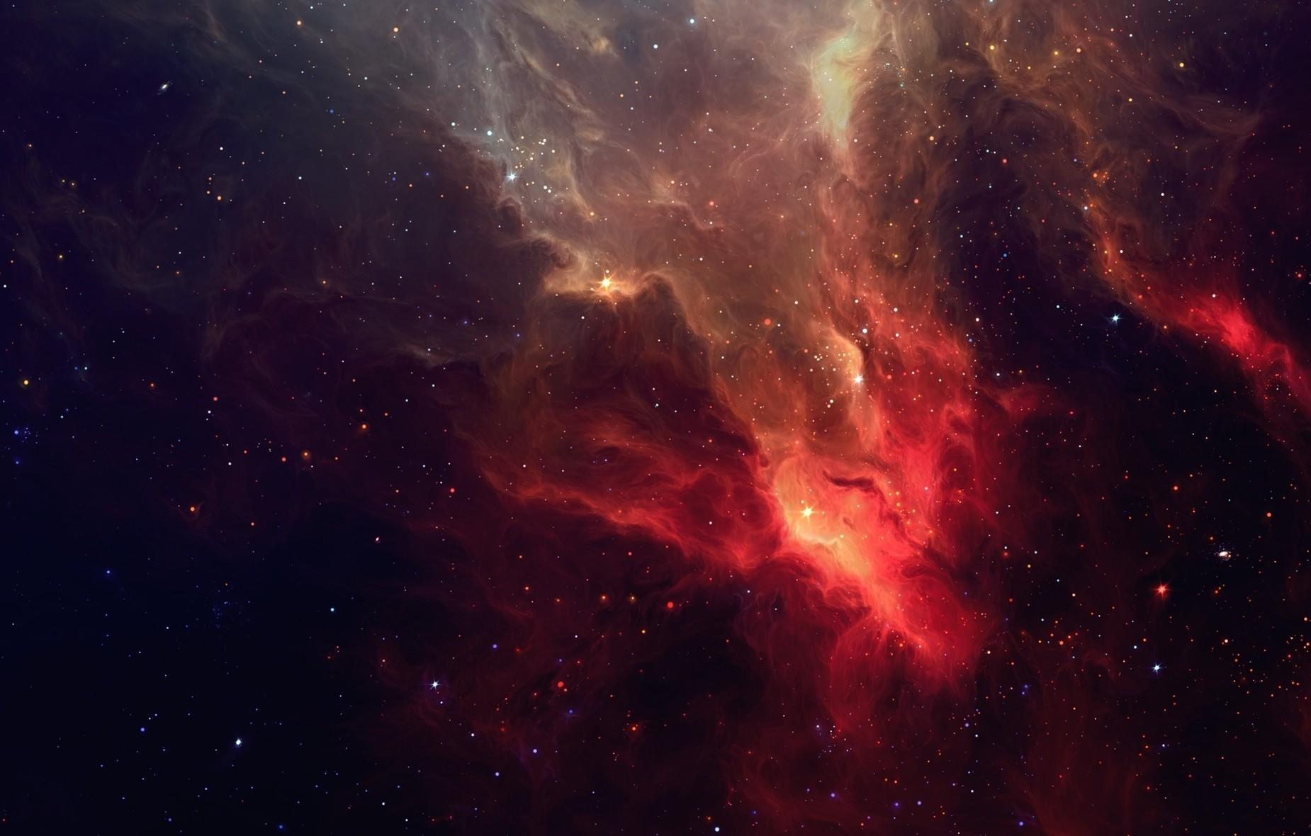 wallpaper : galaxy, stars, light, nebula 1850x1180 - wallup