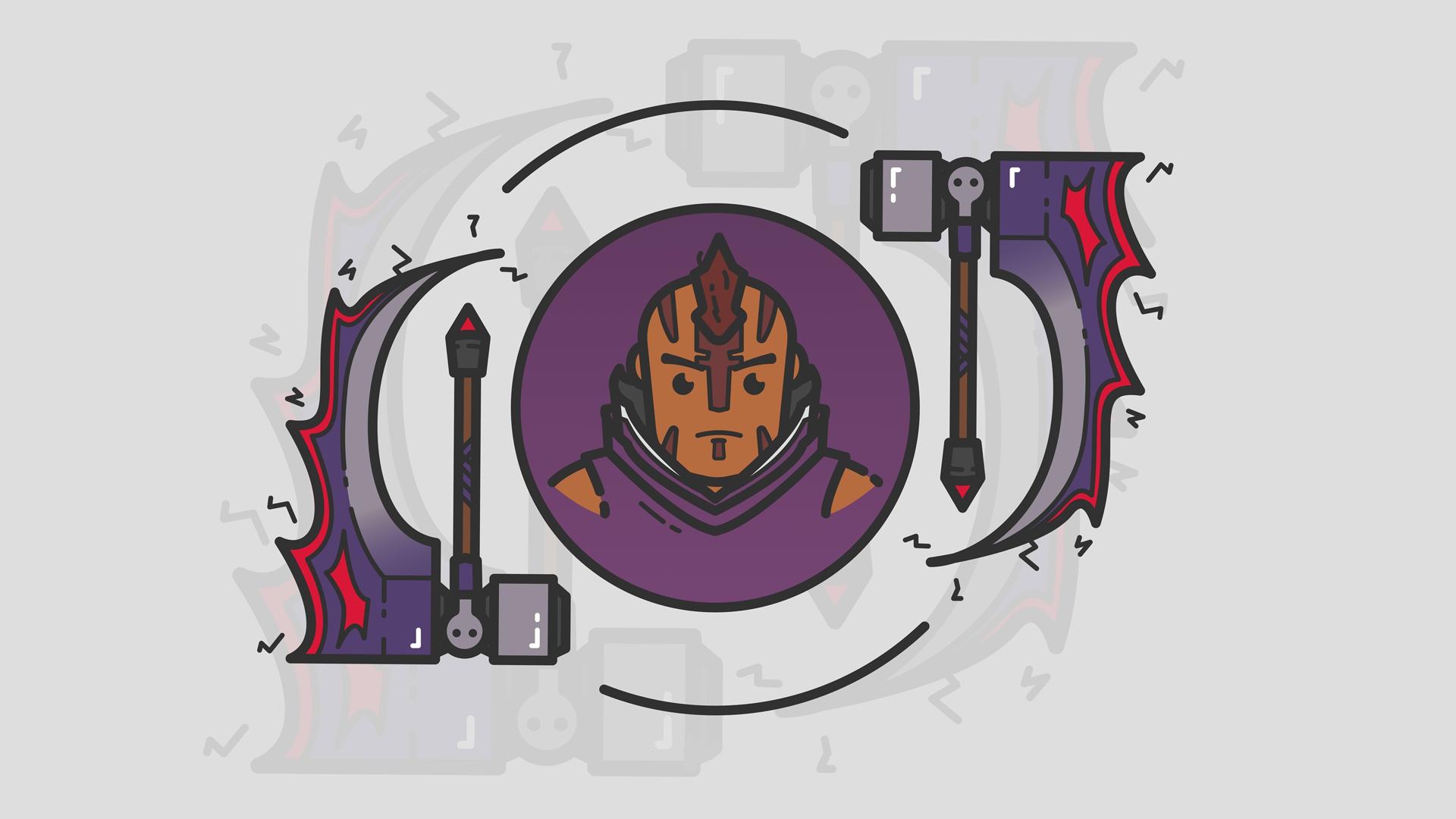 Wallpaper Games Art Dota 2 Anti Mage Magina Minimalism