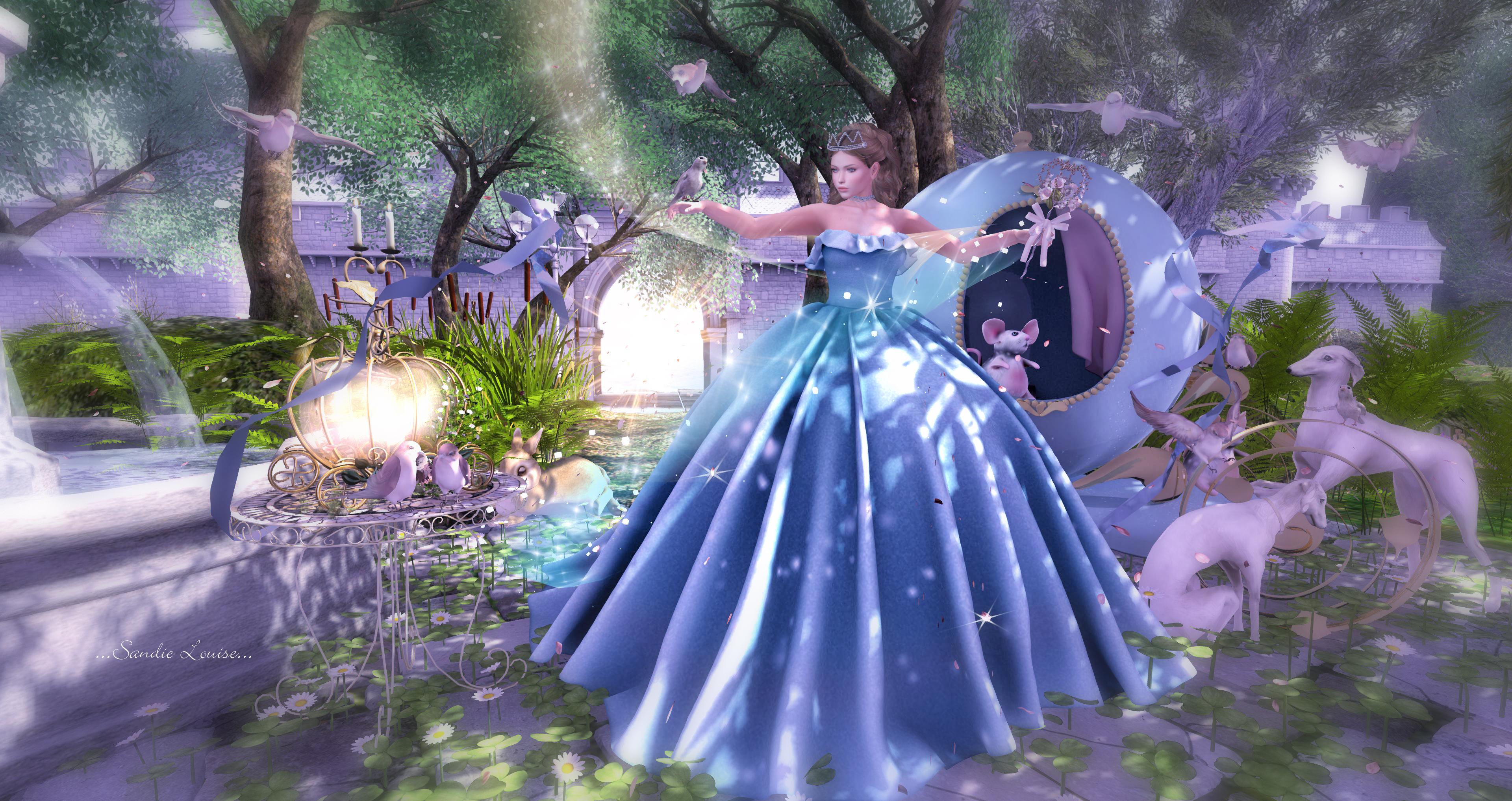Fond d 39 cran jardin c ur violet robe bleu for Jardin walt disney