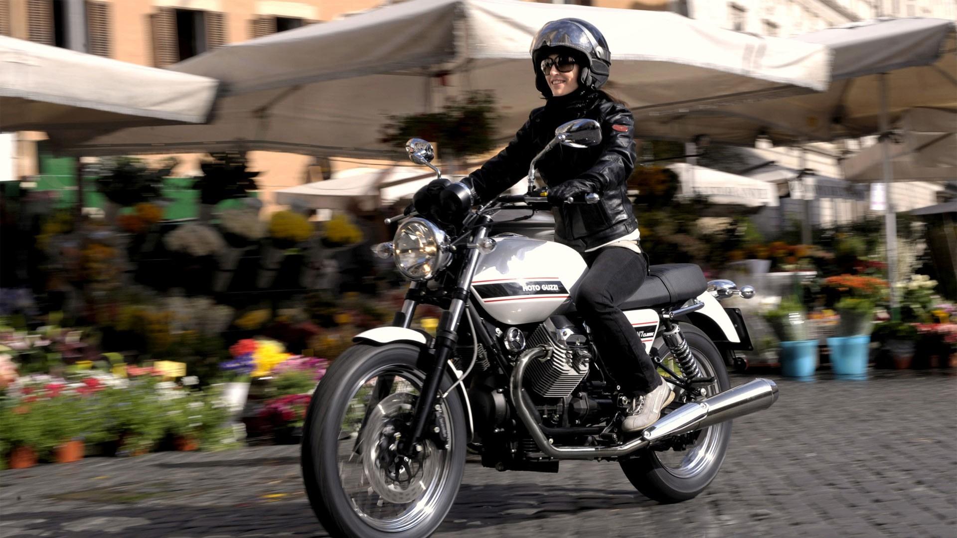 Motorcycle Girl Wallpaper: Wallpaper : Girl, Biker, Motorcycle, Movement, Speed
