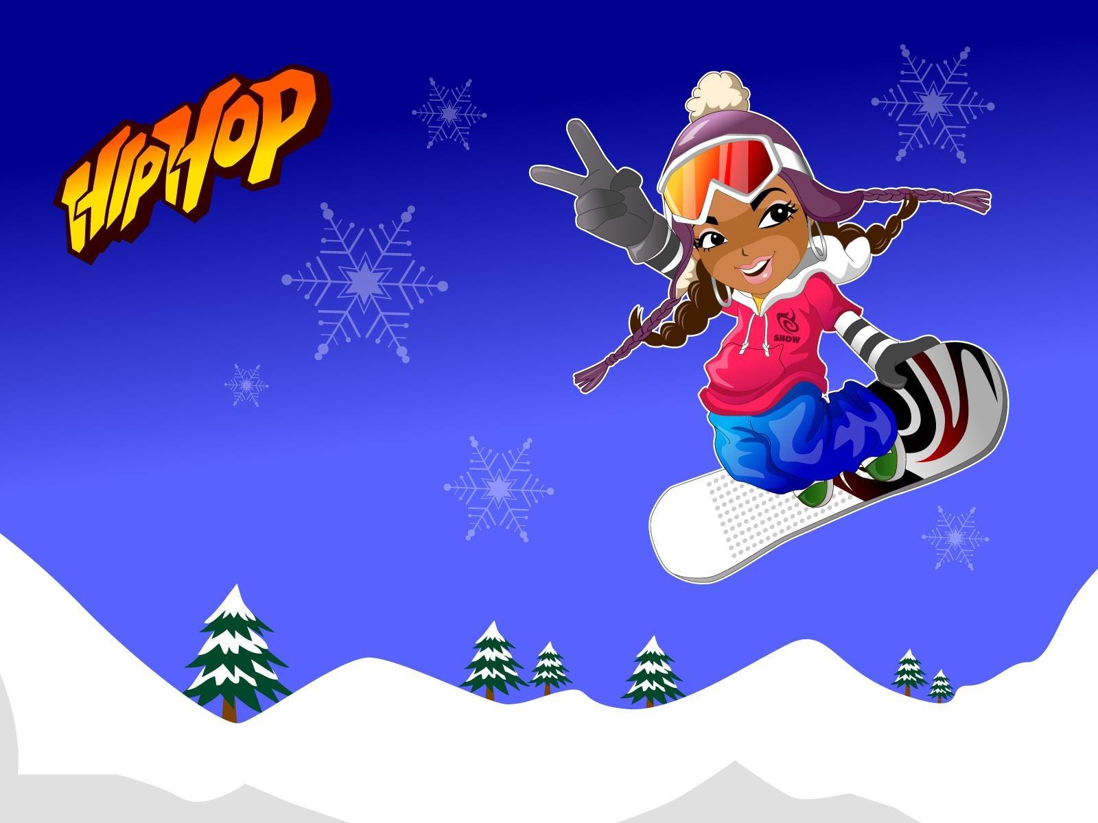 Открытка сноубордисту с днем рождения