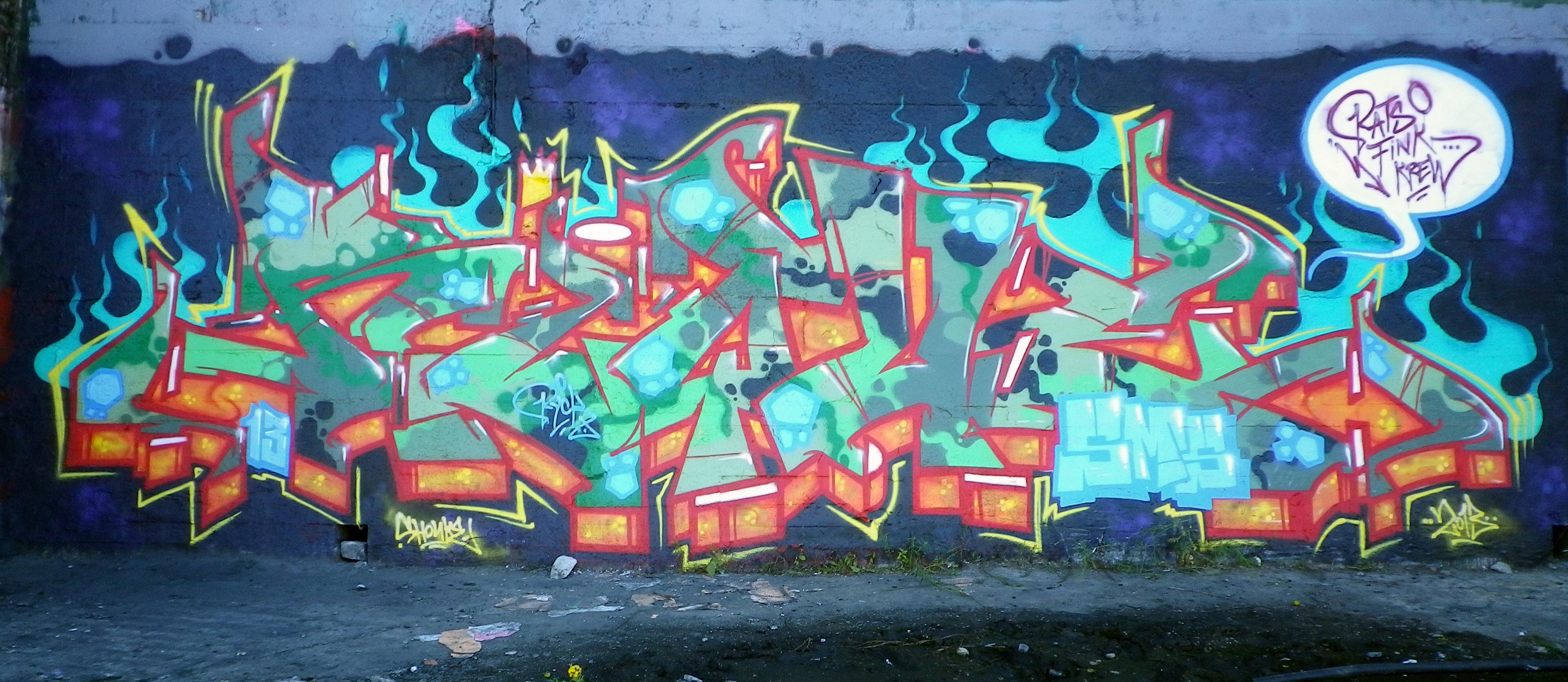 обои граффити брюссель рик убыль Rik смс Rfk
