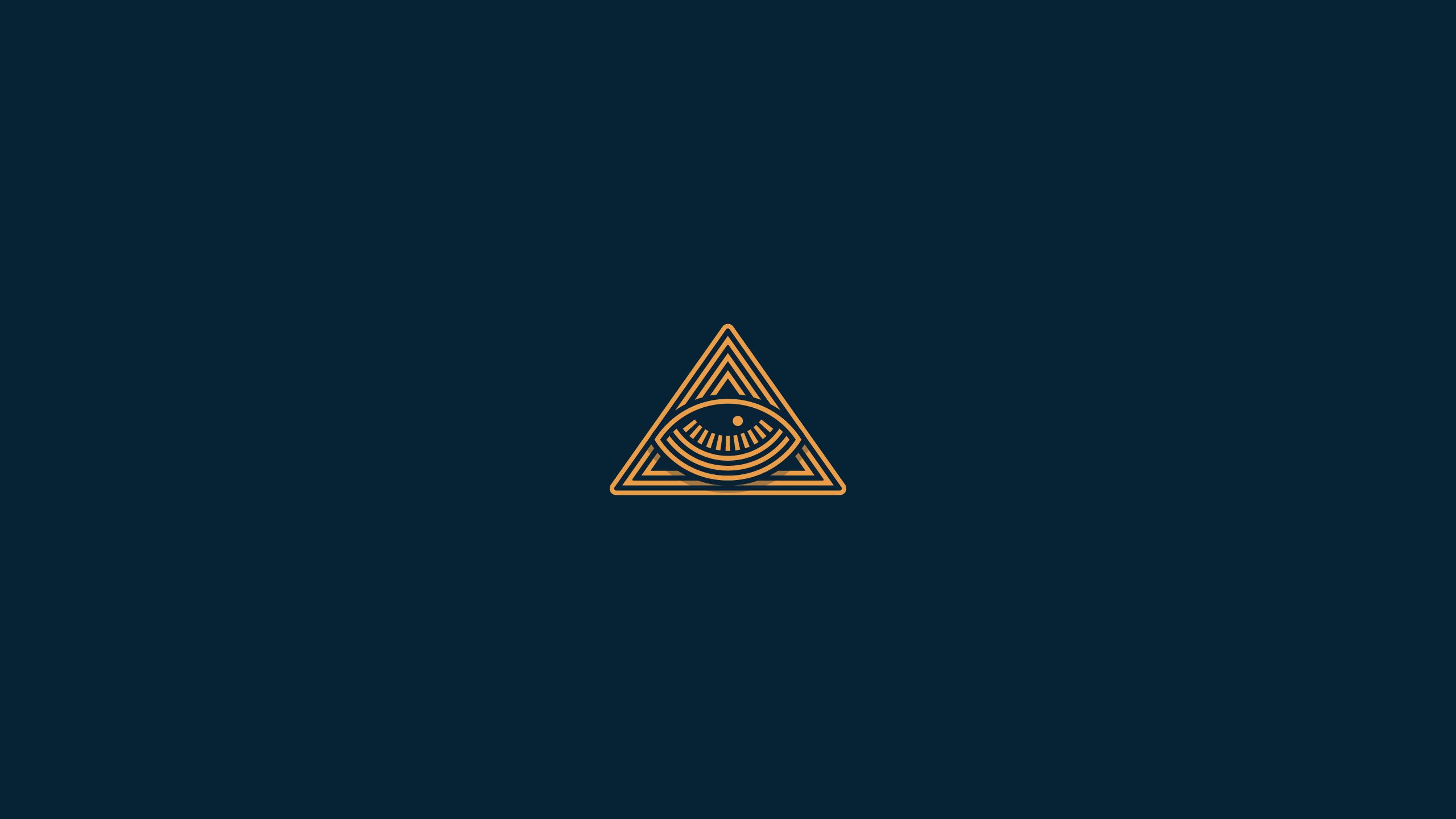 Graphic Design Blue Background Illuminati Pyramid The All Seeing Eye
