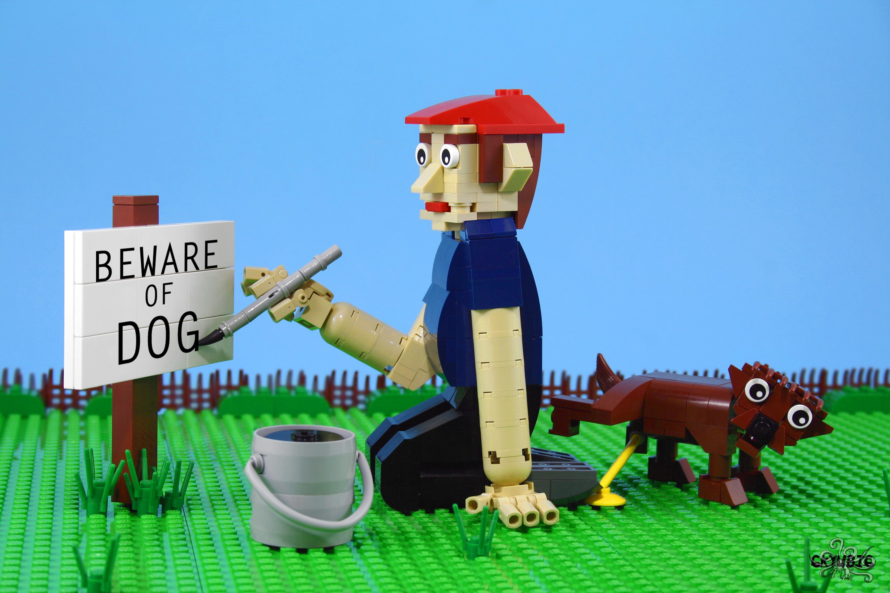 Wallpaper Rumput Gambar Kartun Lego Anjing Mainan Lucu Moc 6kyubi6 Ironbuilder