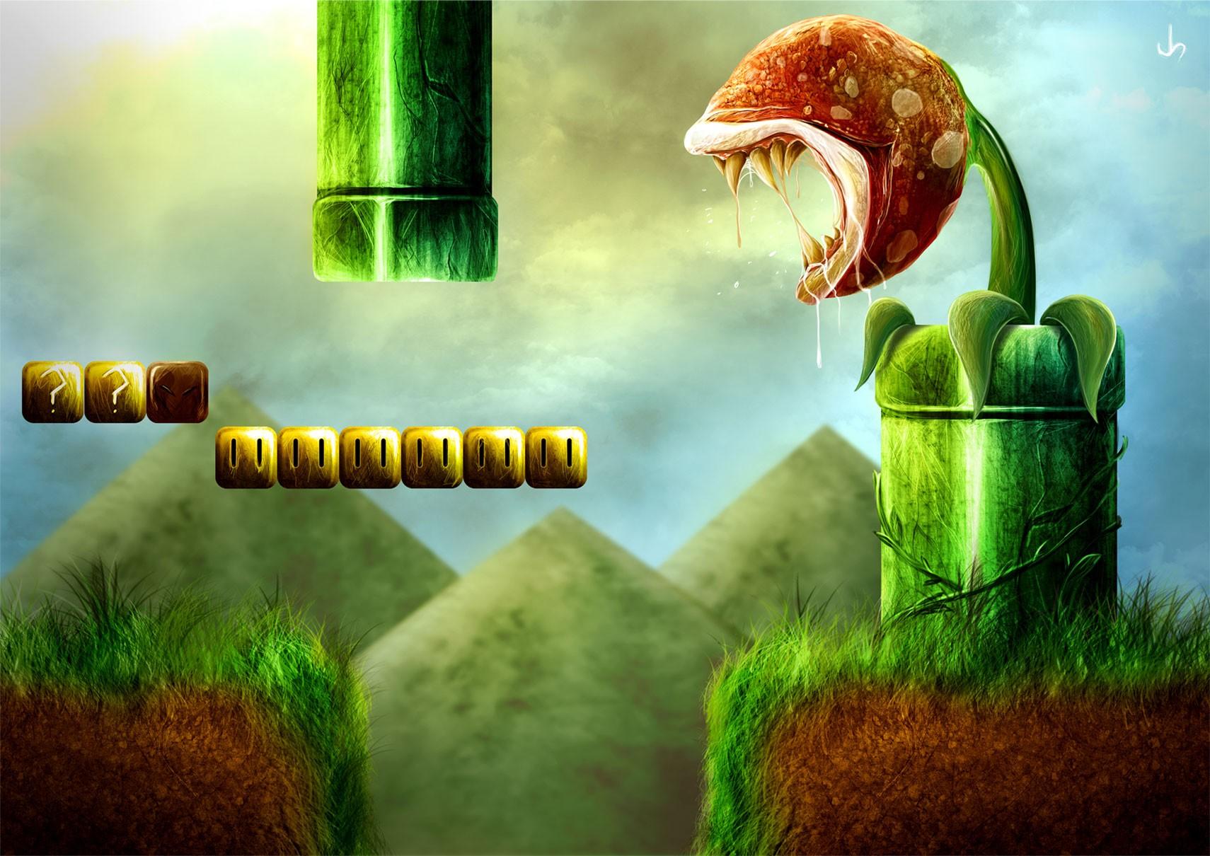 Hintergrundbilder : Gras, Grün, Super Mario, Dschungel ...