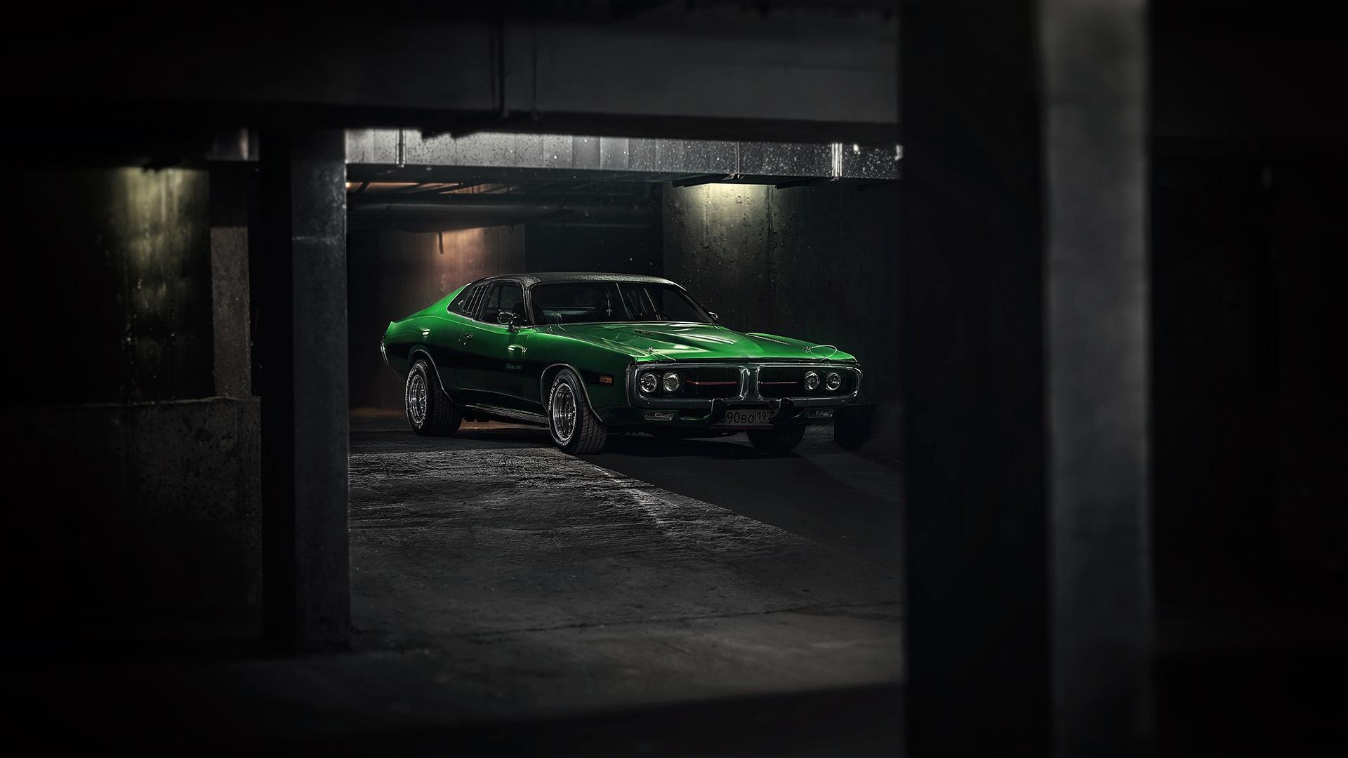 Wallpaper Green Cars Dark Car Vehicle Dodge Charger